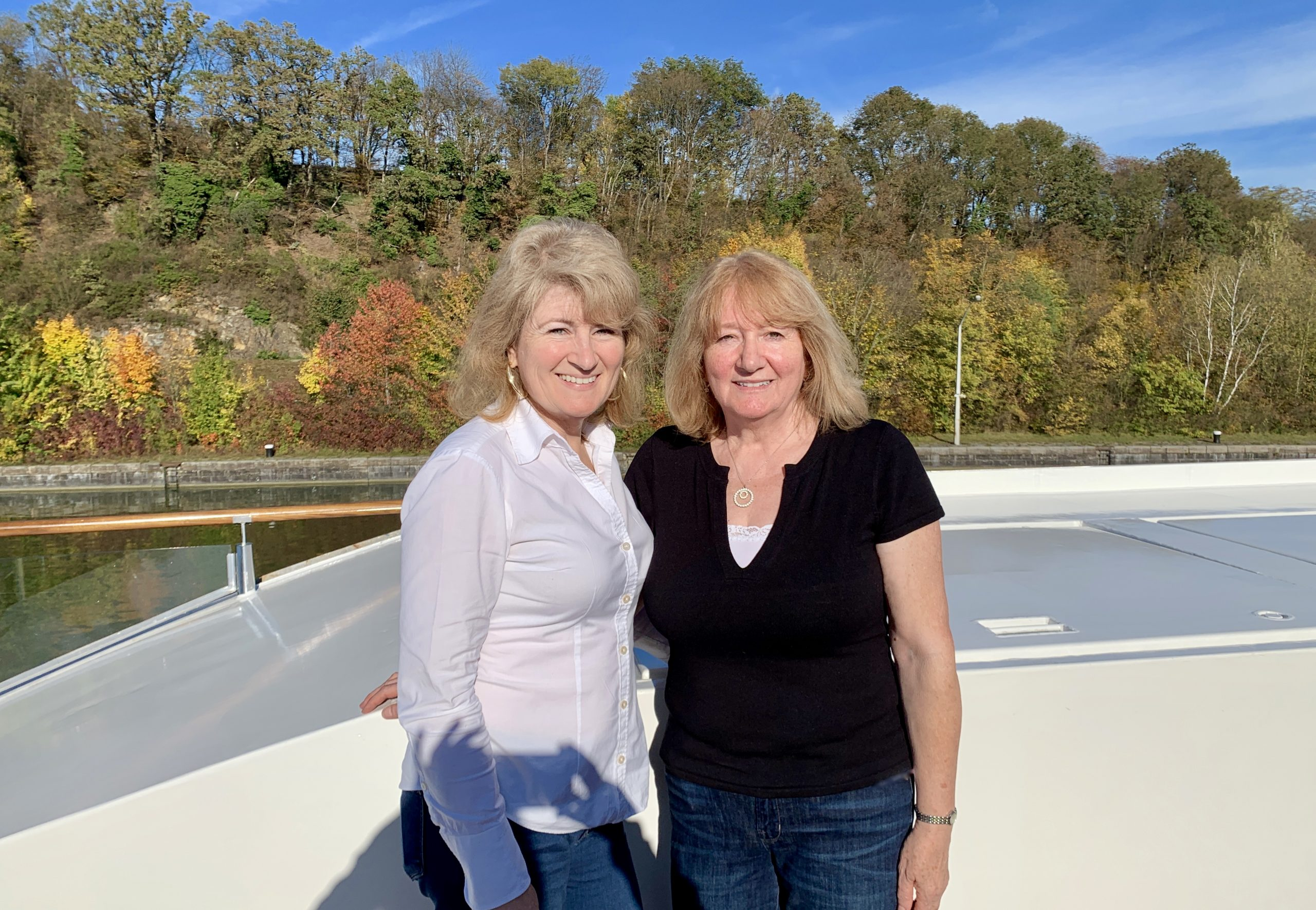 Christina and her mother on the AmaMagna