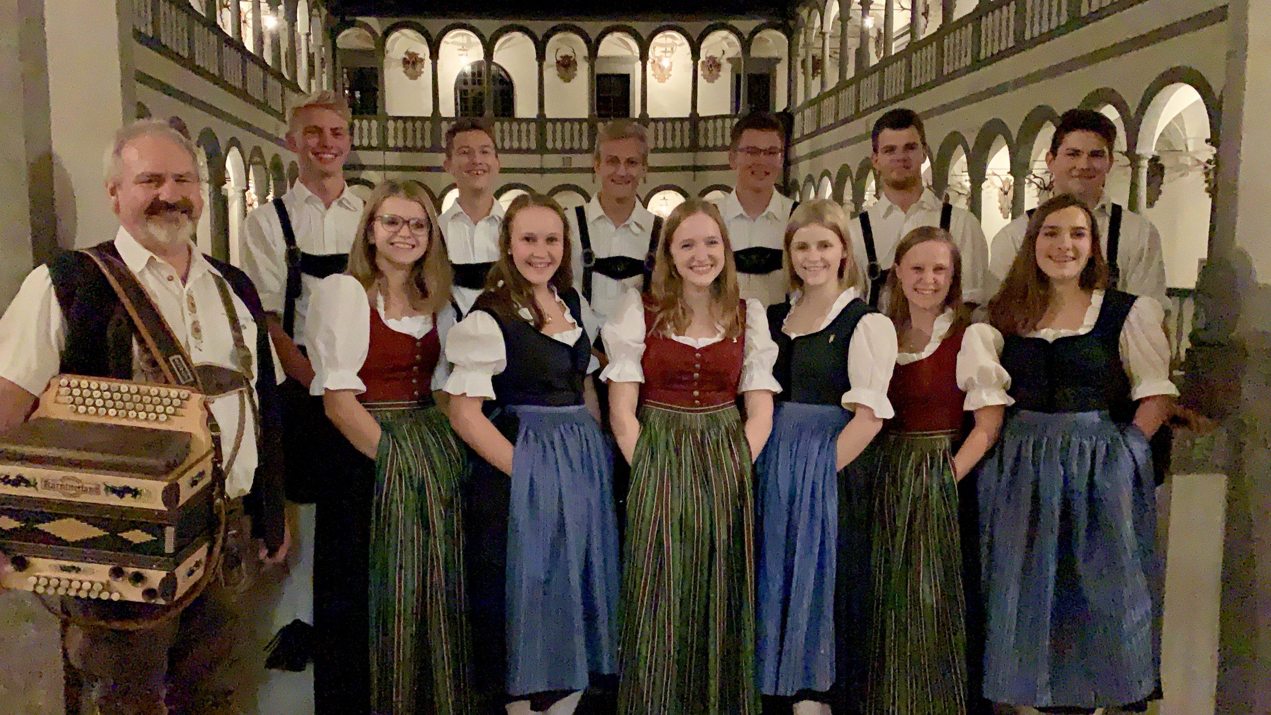 Austrian dancers at Greinburg Castle, Austria