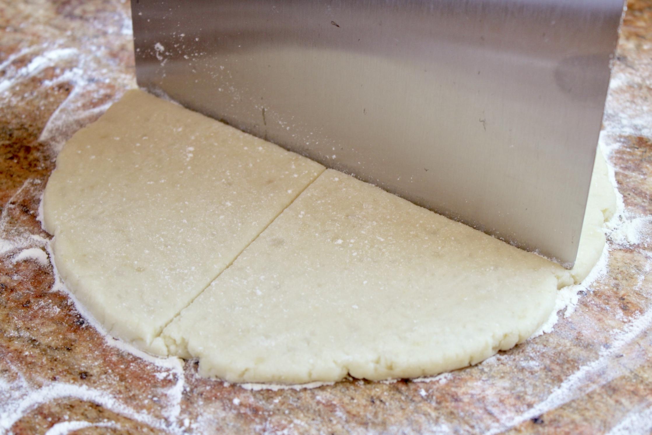 cutting potato cakes