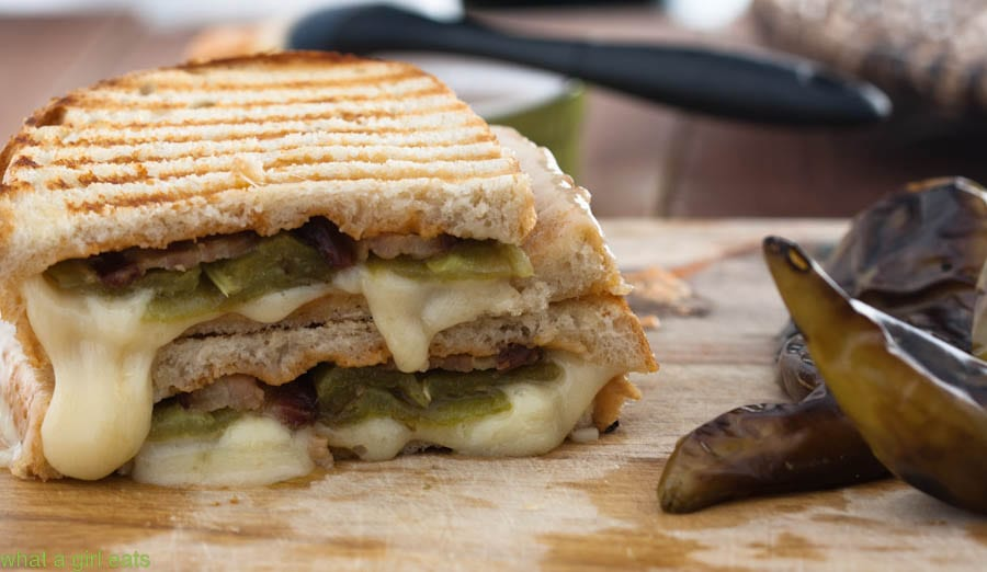 Hatch Chile Bacon Cheese Sandwich