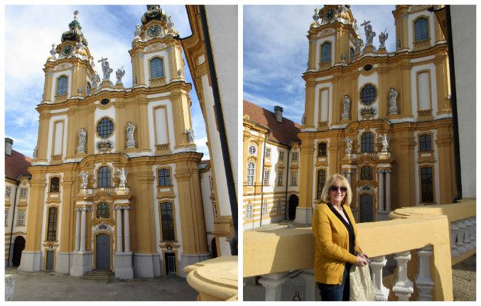 Mum at Melk abbey