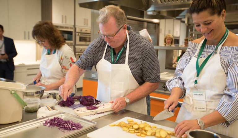 cooking class at the CIA at Copia