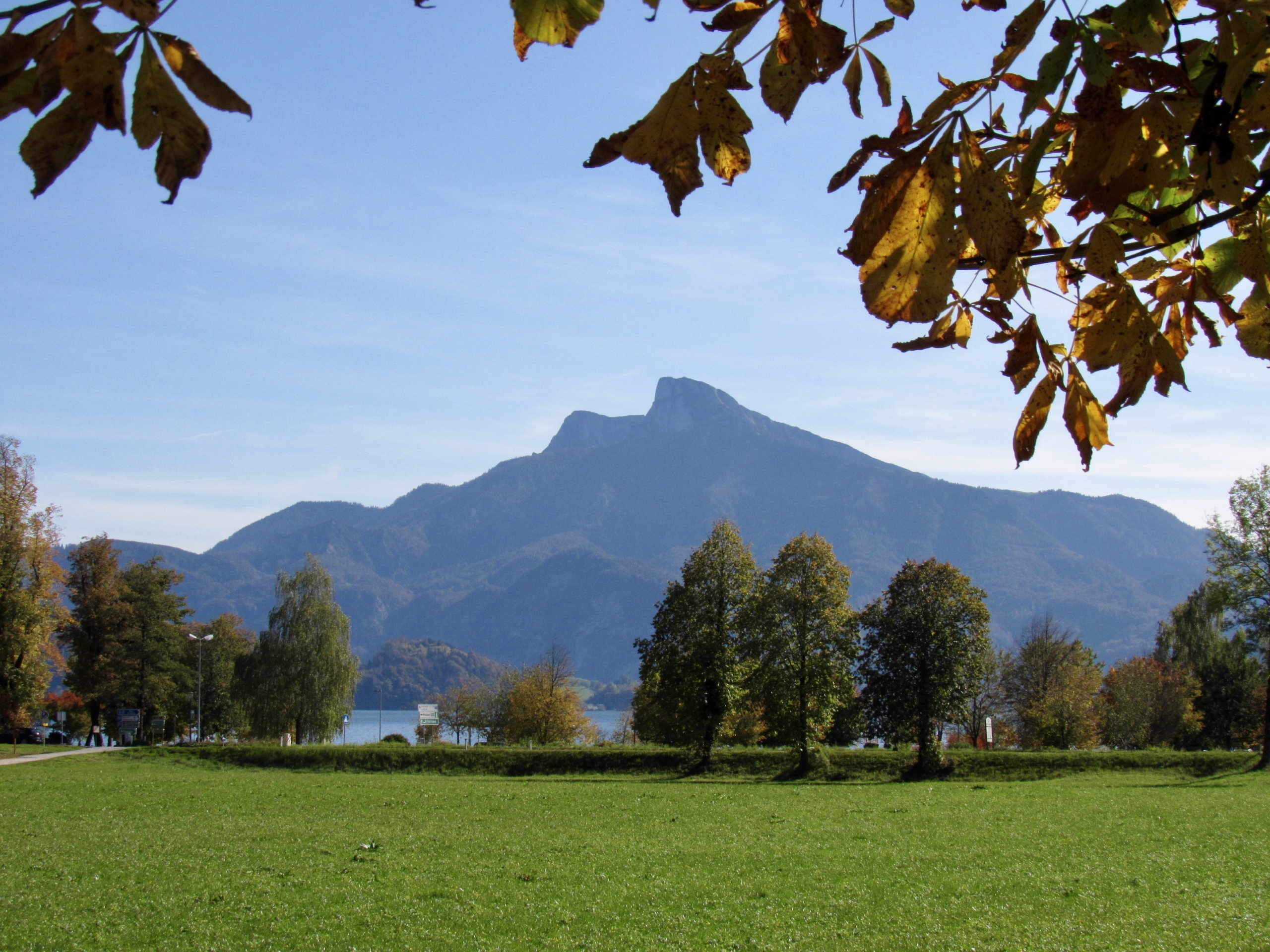 Mondsee view in the Austrian Lake District
