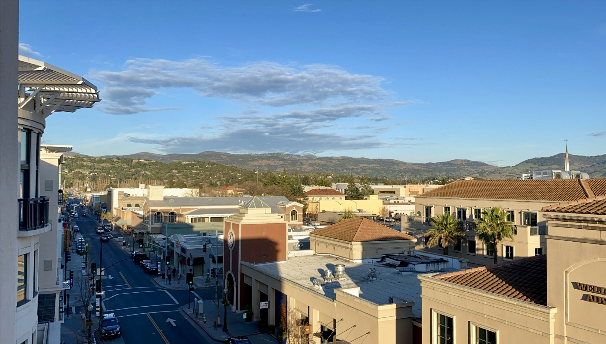 view from Andaz Napa