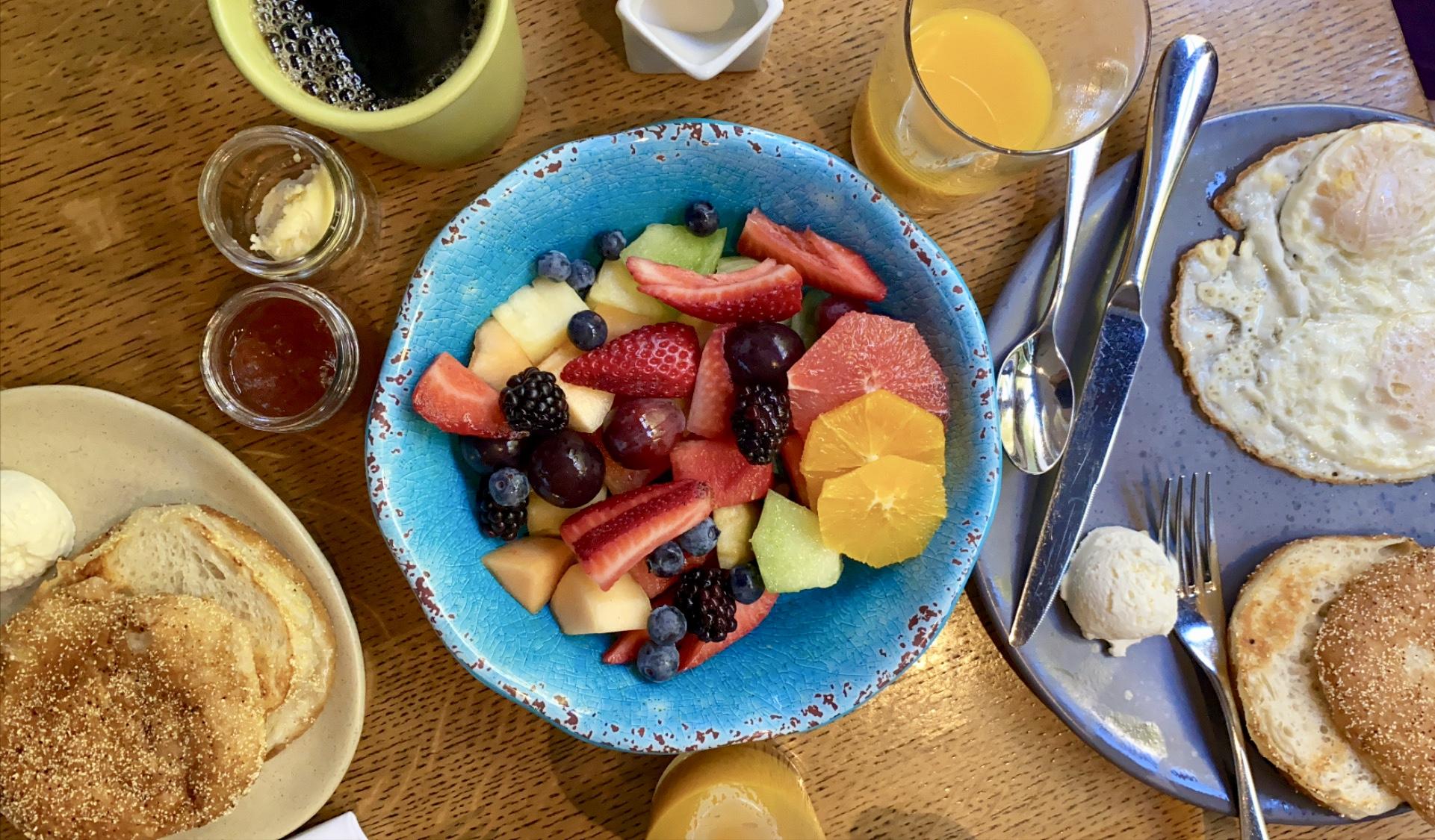 breakfast at the Andaz napa