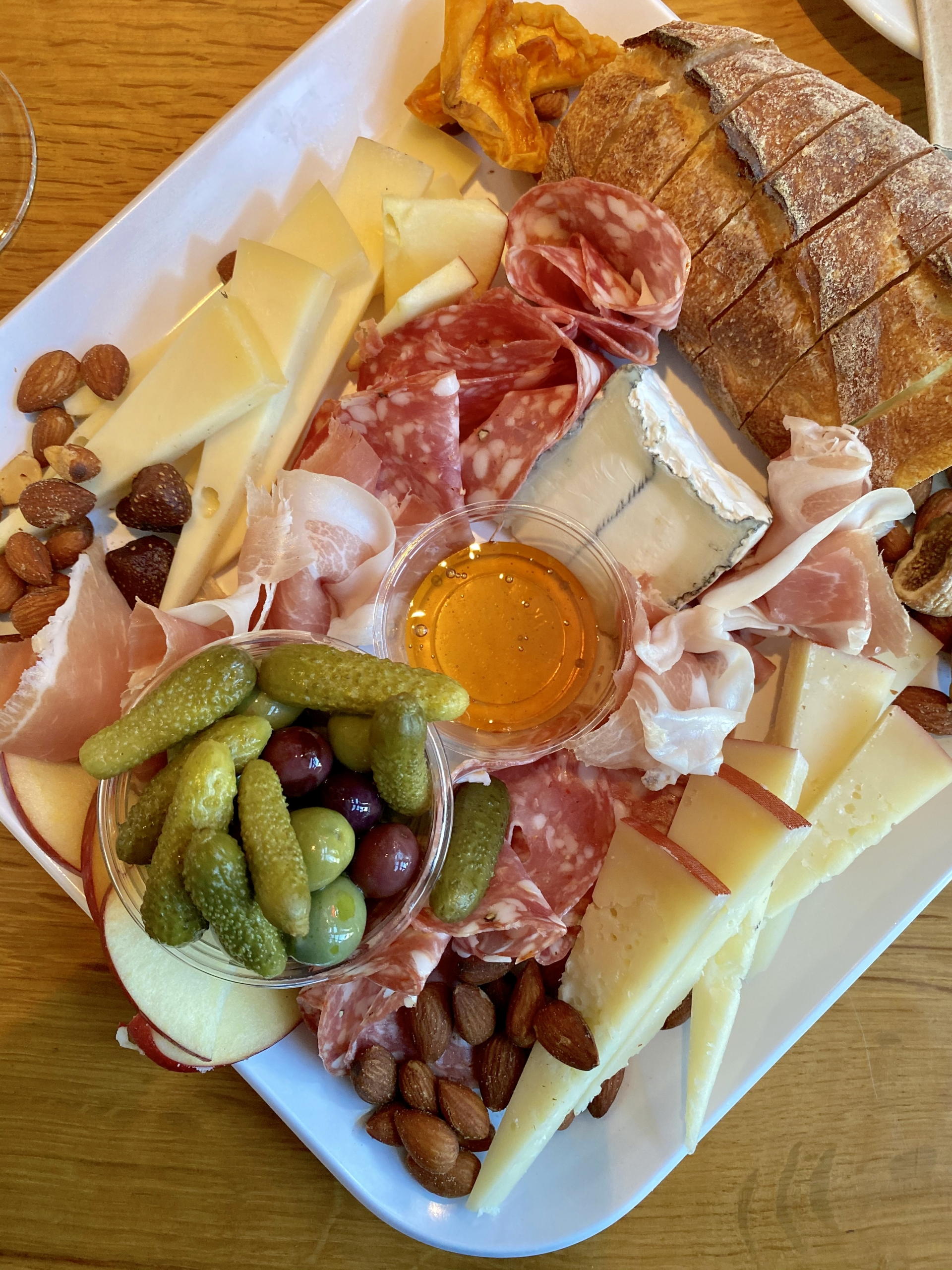 Cheese and charcuterie board from Oxbow Cheese and Wine Merchant