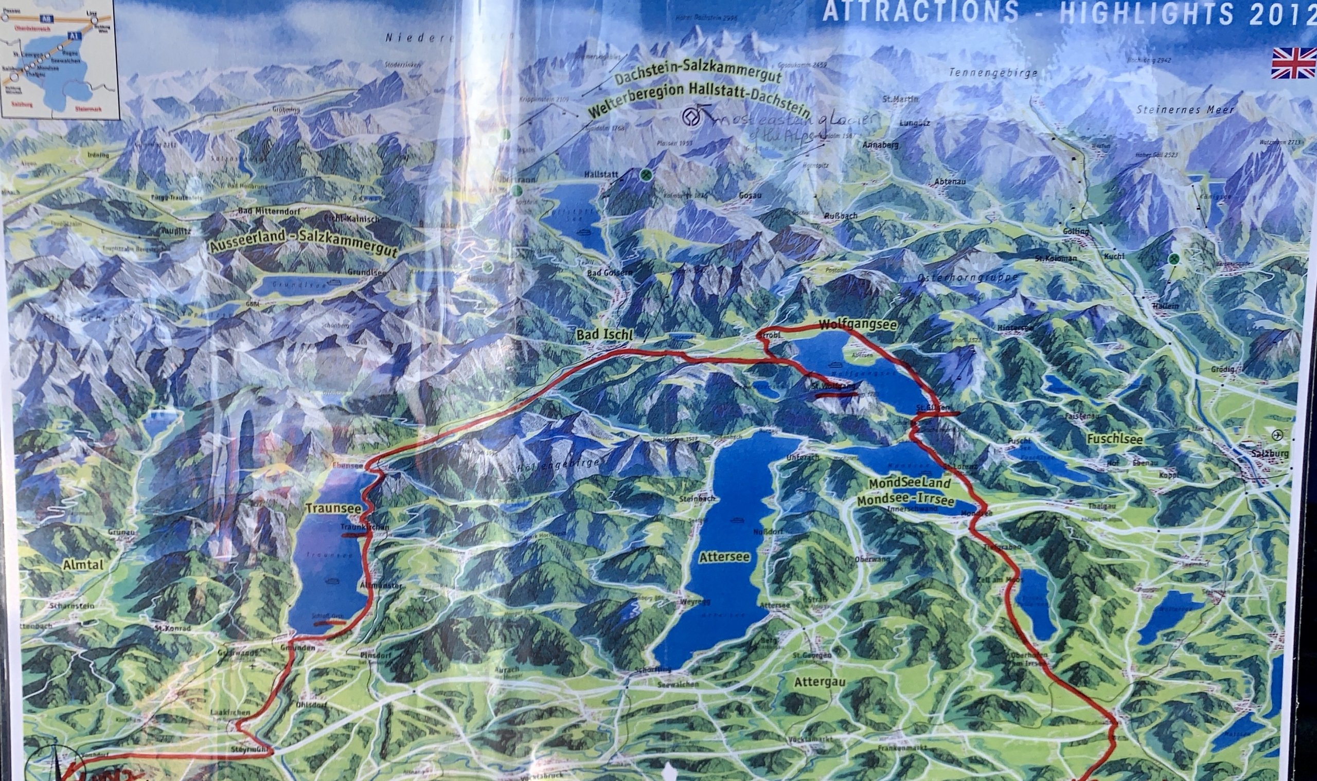 map of the Austrian Lake District