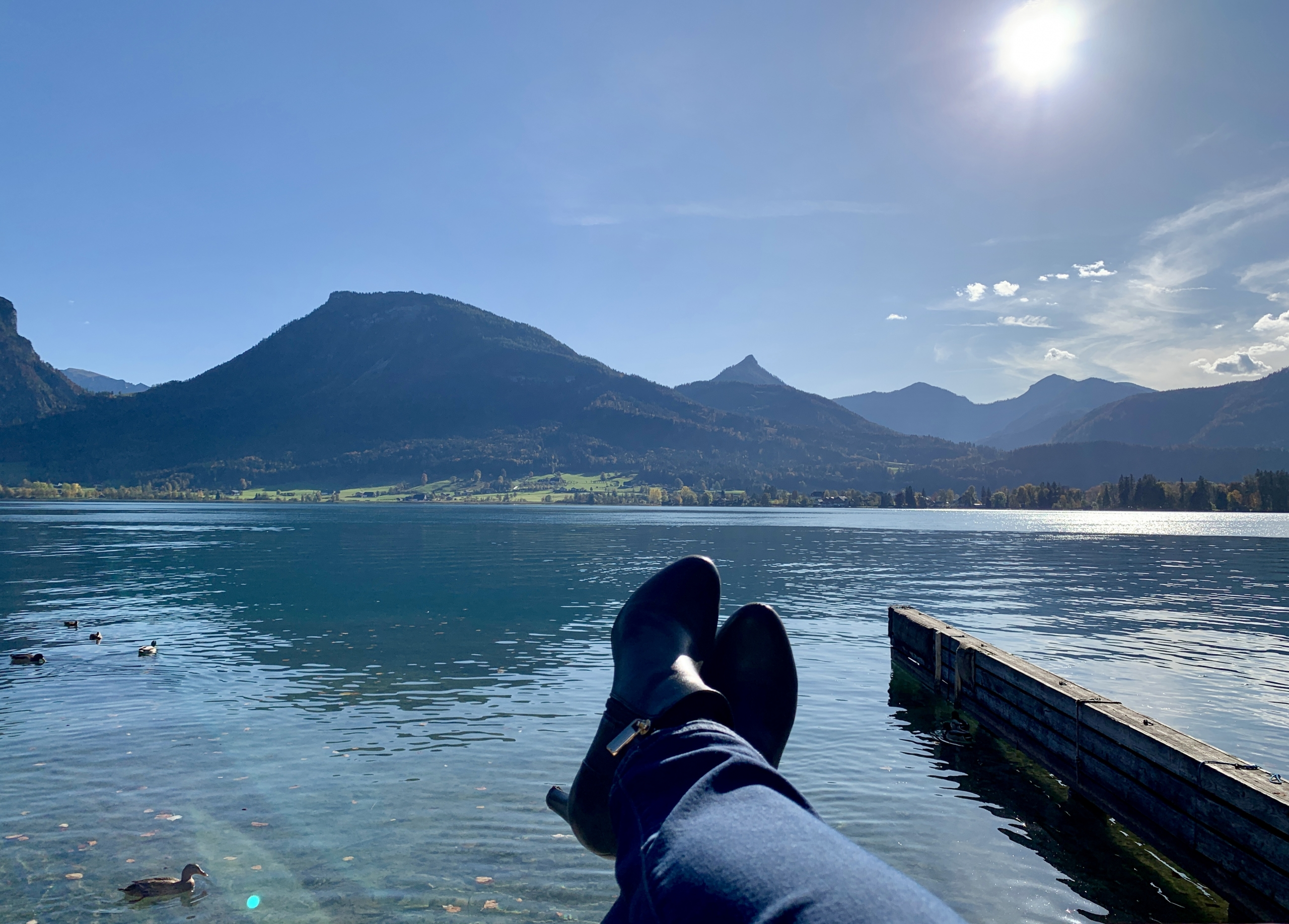 feet by St. Wolfgangsee in the Austrian Lake District