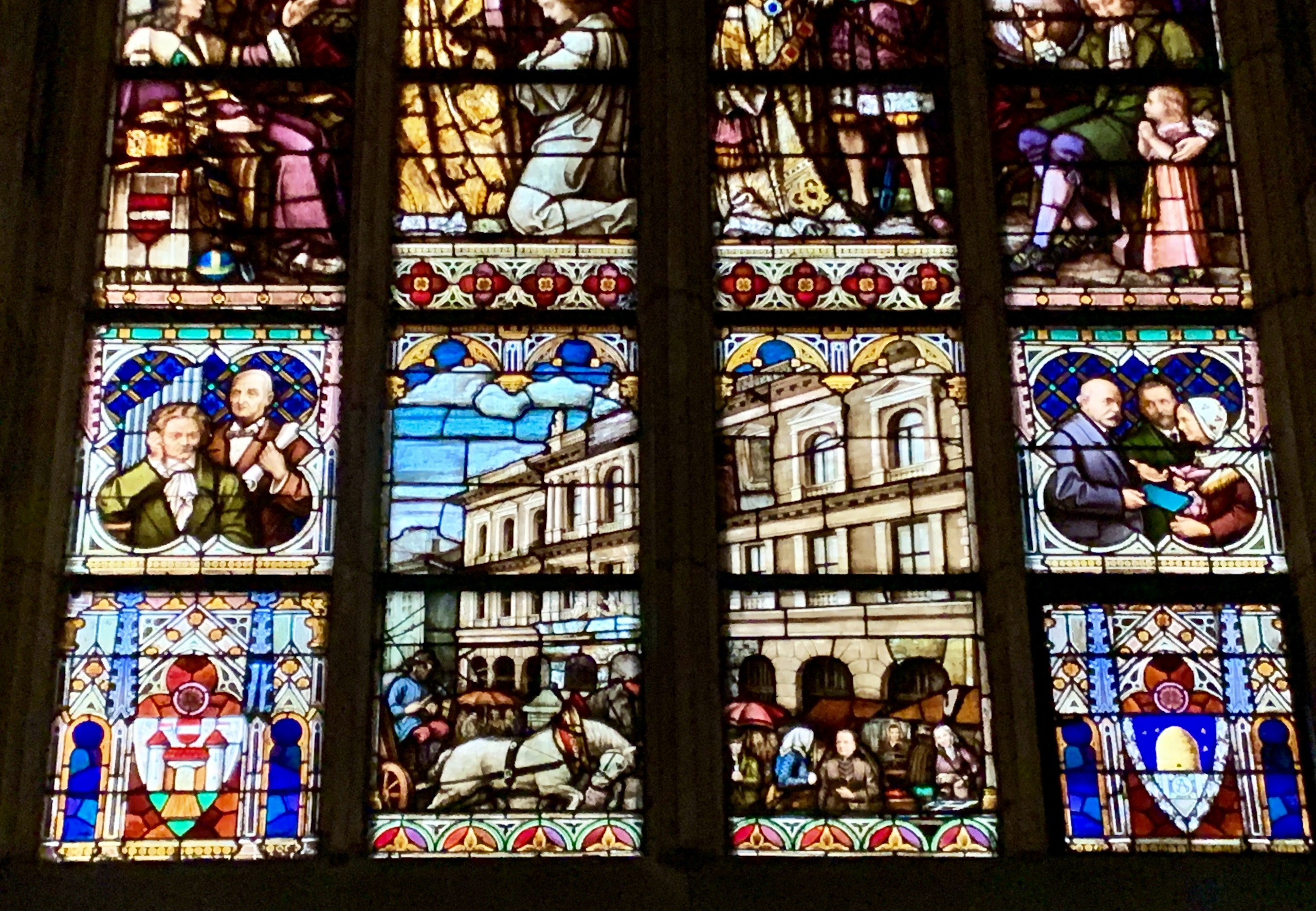 stained glass in St. Mary's cathedral