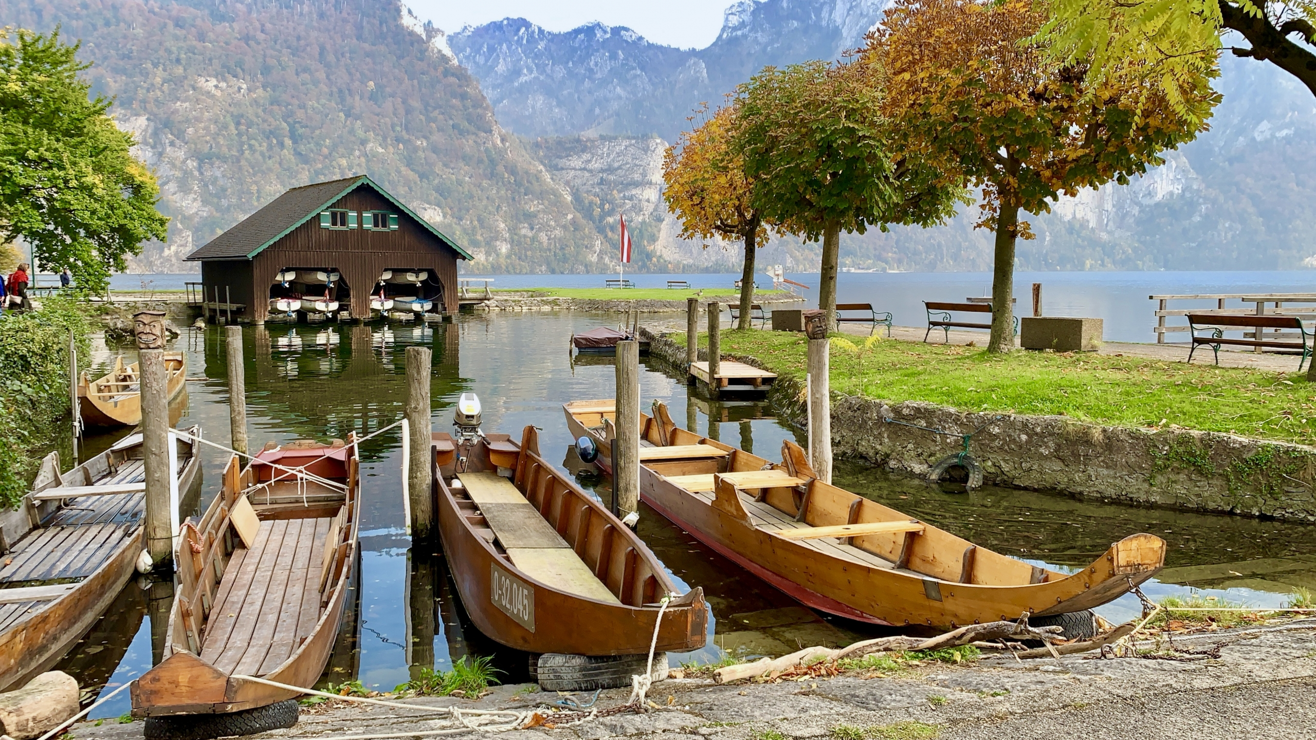 Lake Traunsee boats in the Austrian Lake District