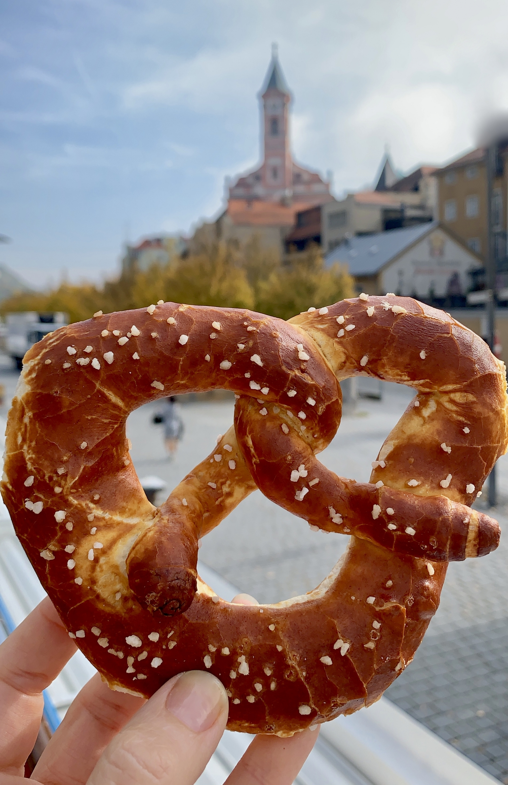 German pretzel in Passau