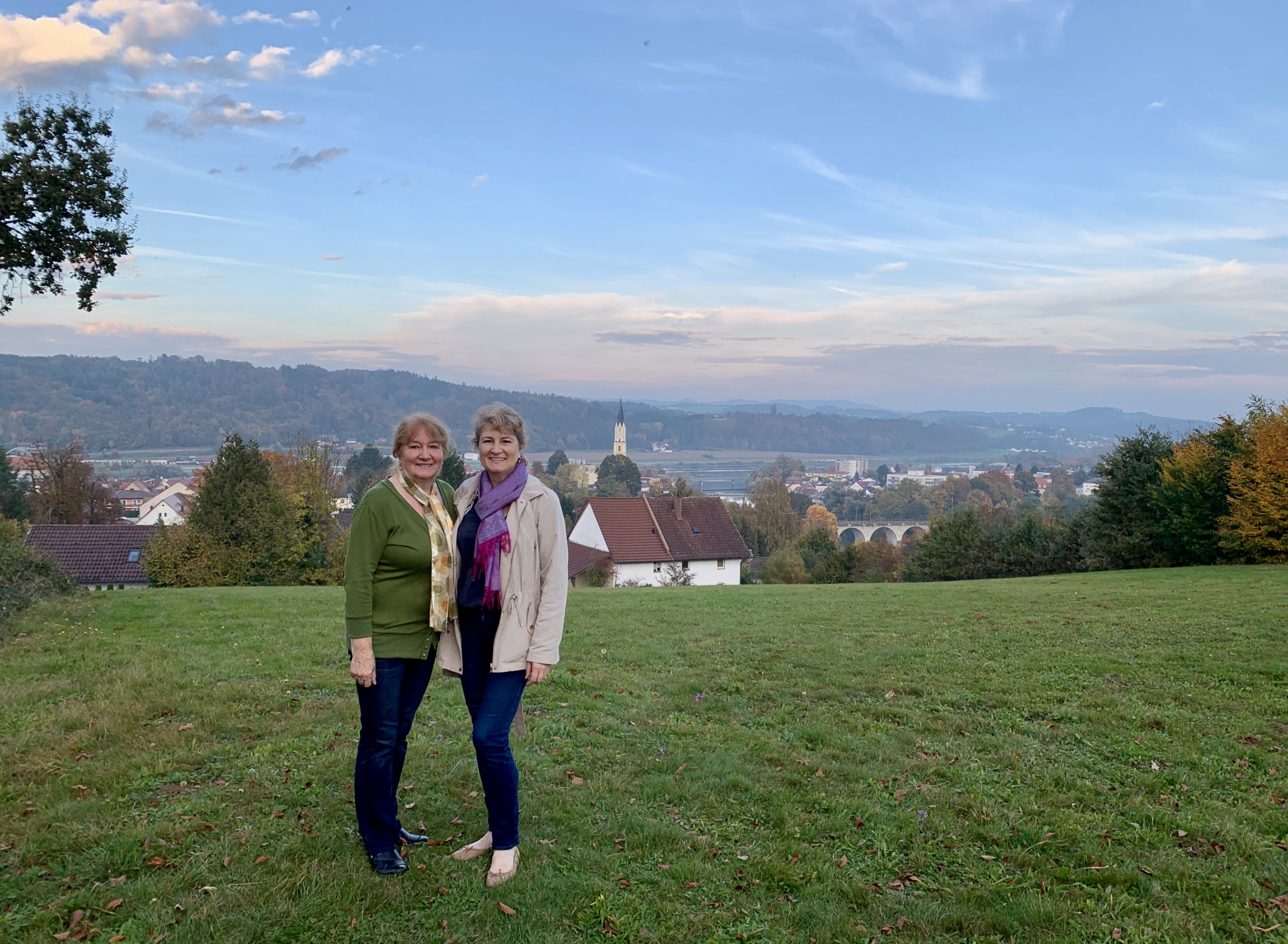 Christina Conte and mother in Vilshofen