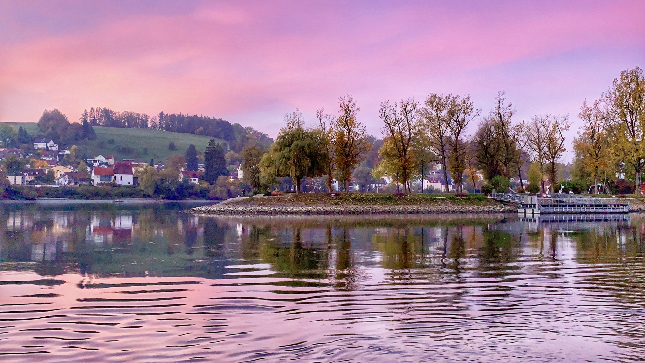 Pink morning in Passau