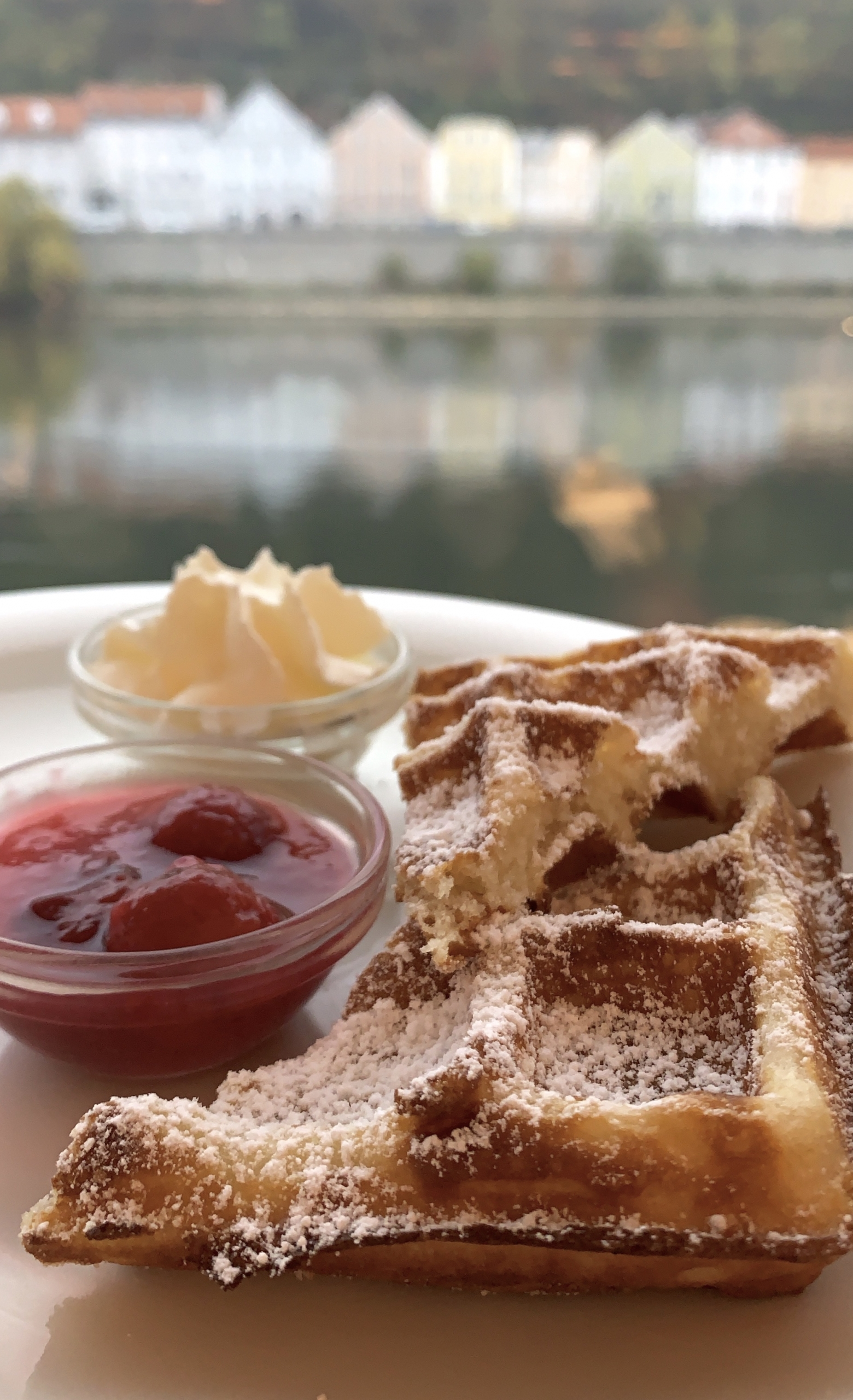 waffles on the Danube