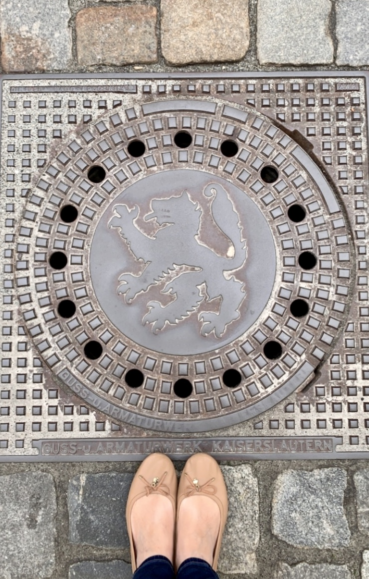 manhole cover Visiting Passau, Germany