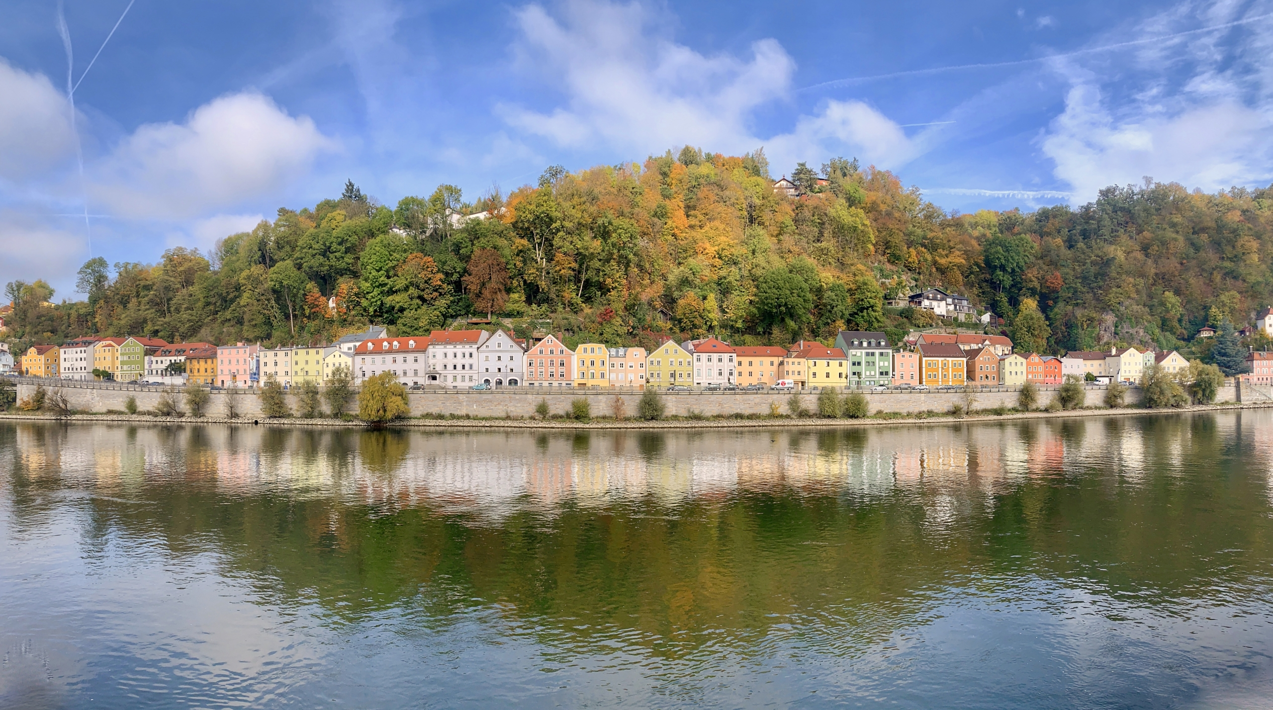 Passau panorama over the Danube