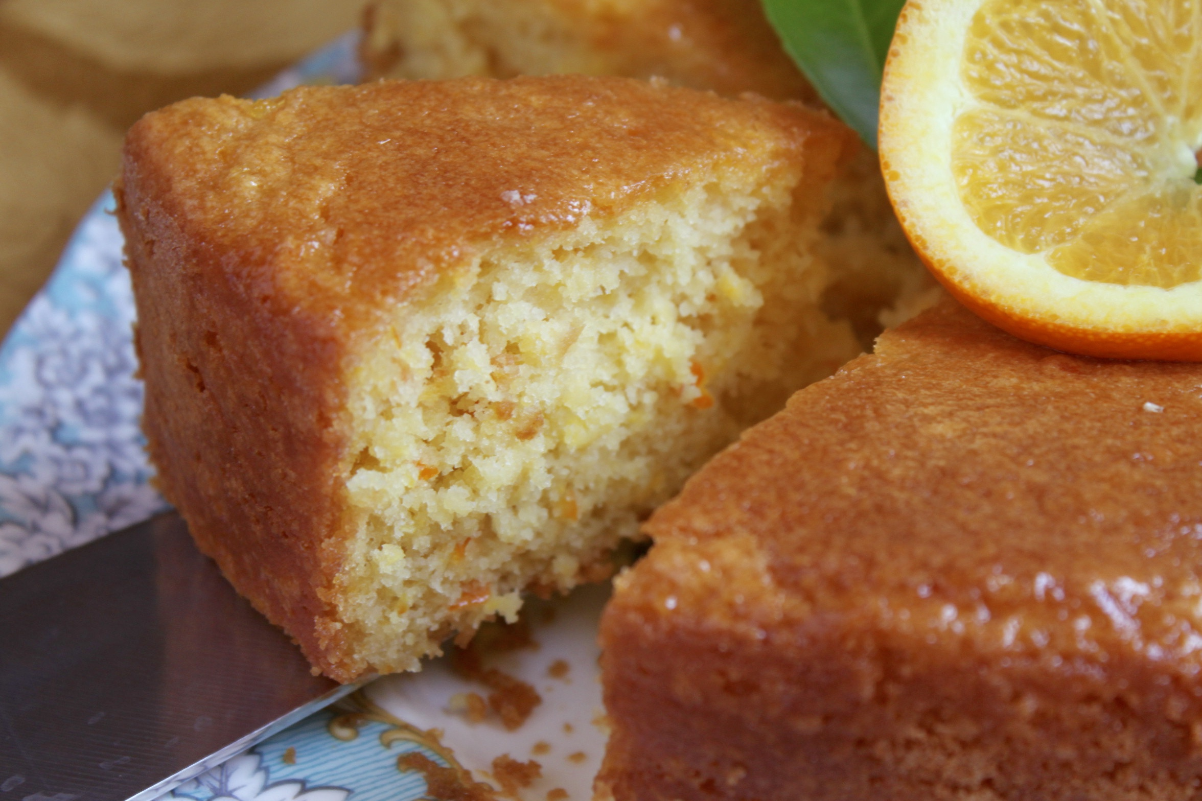 serving gluten free orange cake