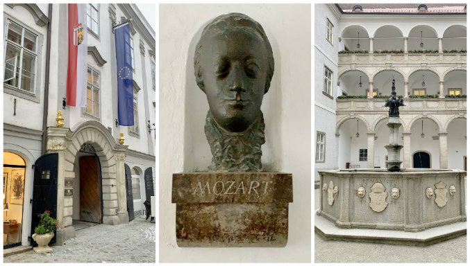 mozart house linz austria collage