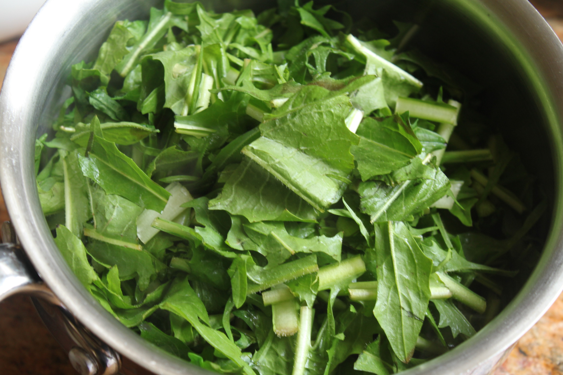 chopped dandelion