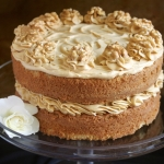 Coffee and Walnut Cake, a Classic British Cake for Afternoon Tea