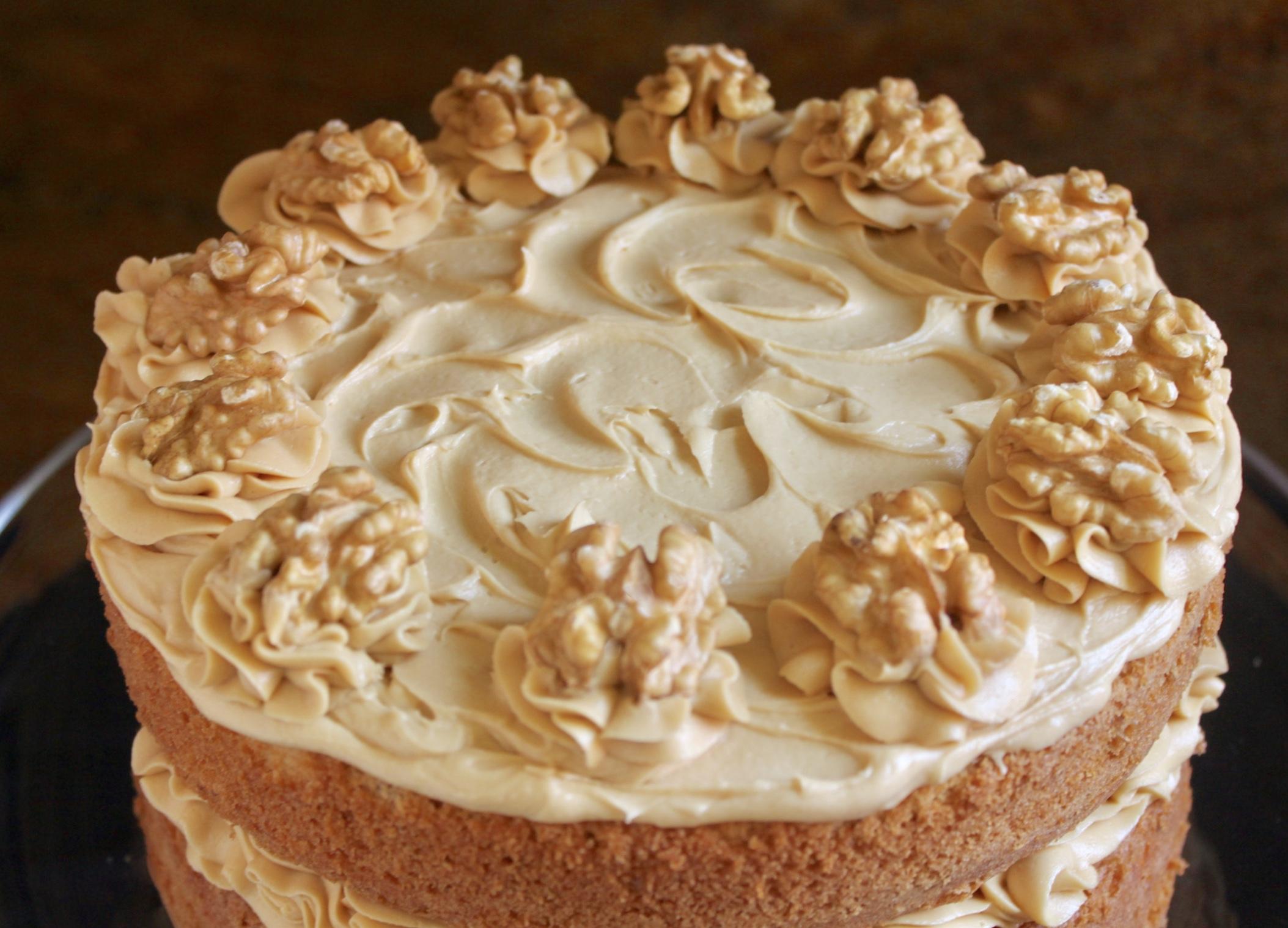 top of walnut cake