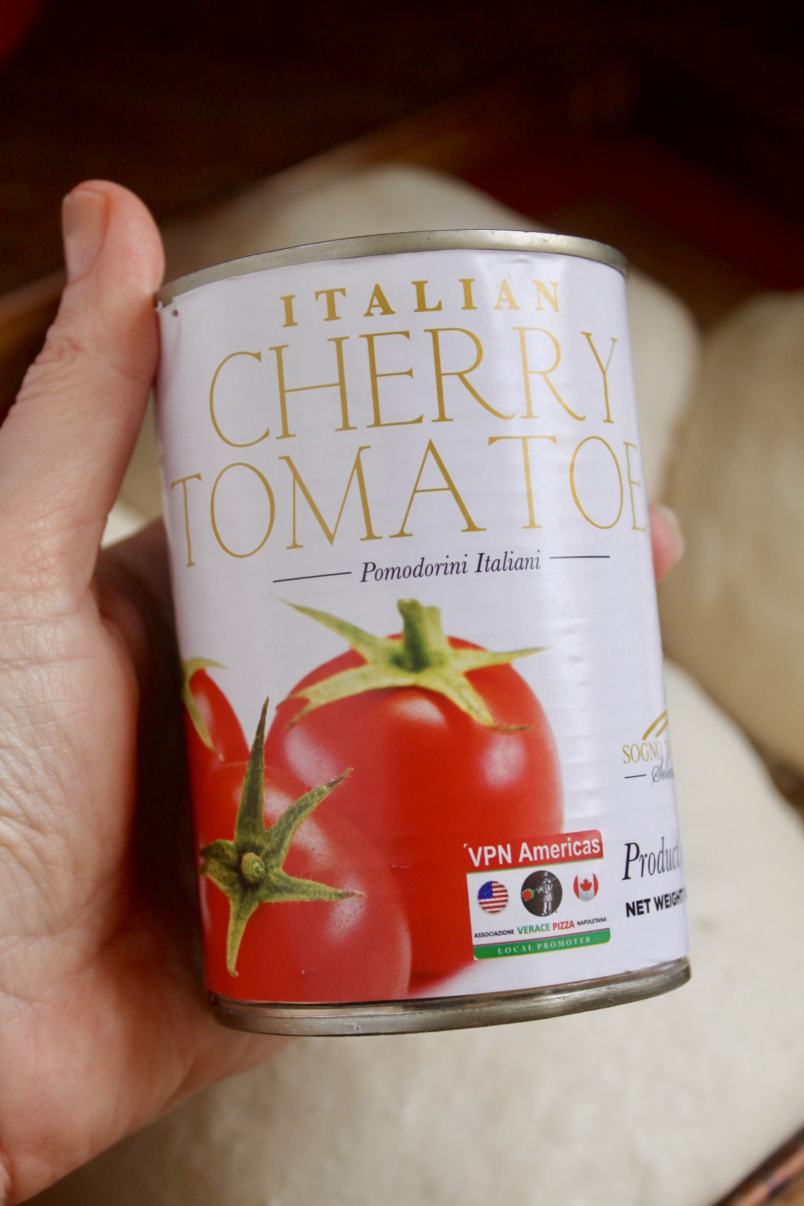 Italian tomatoes in a can