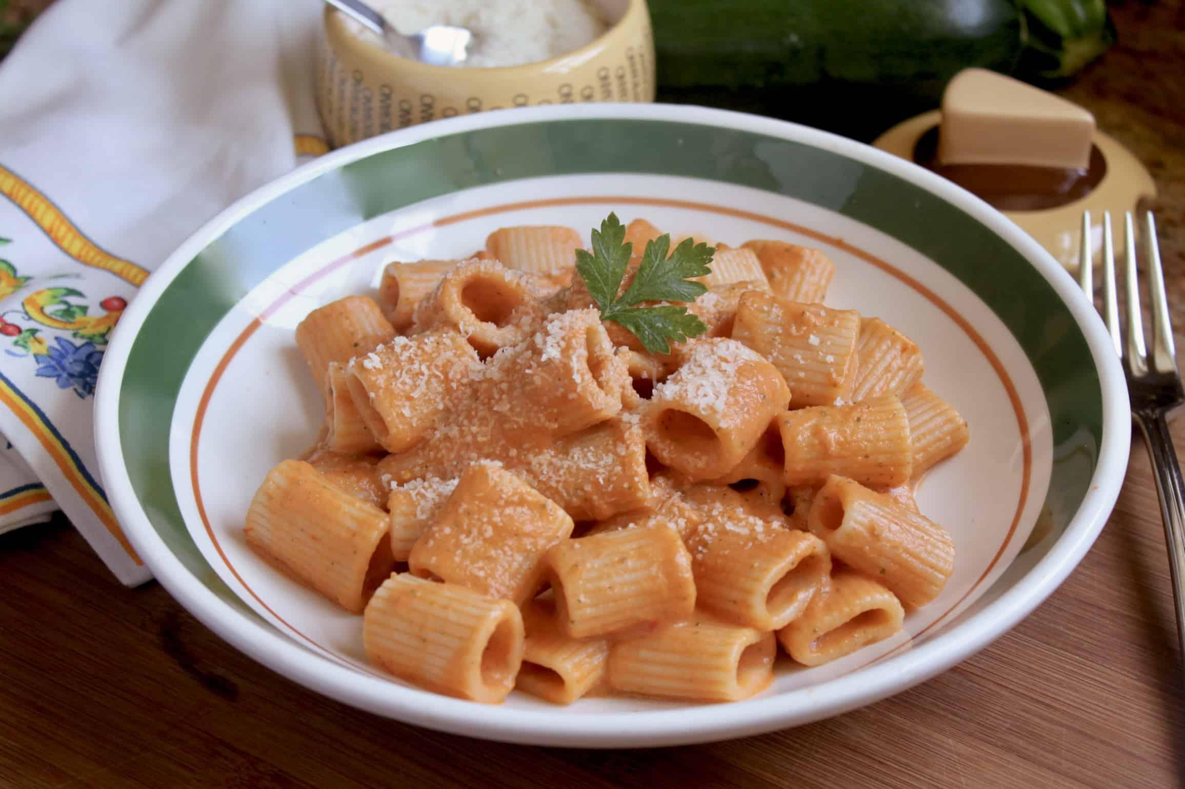 zucchini pasta in a bowl