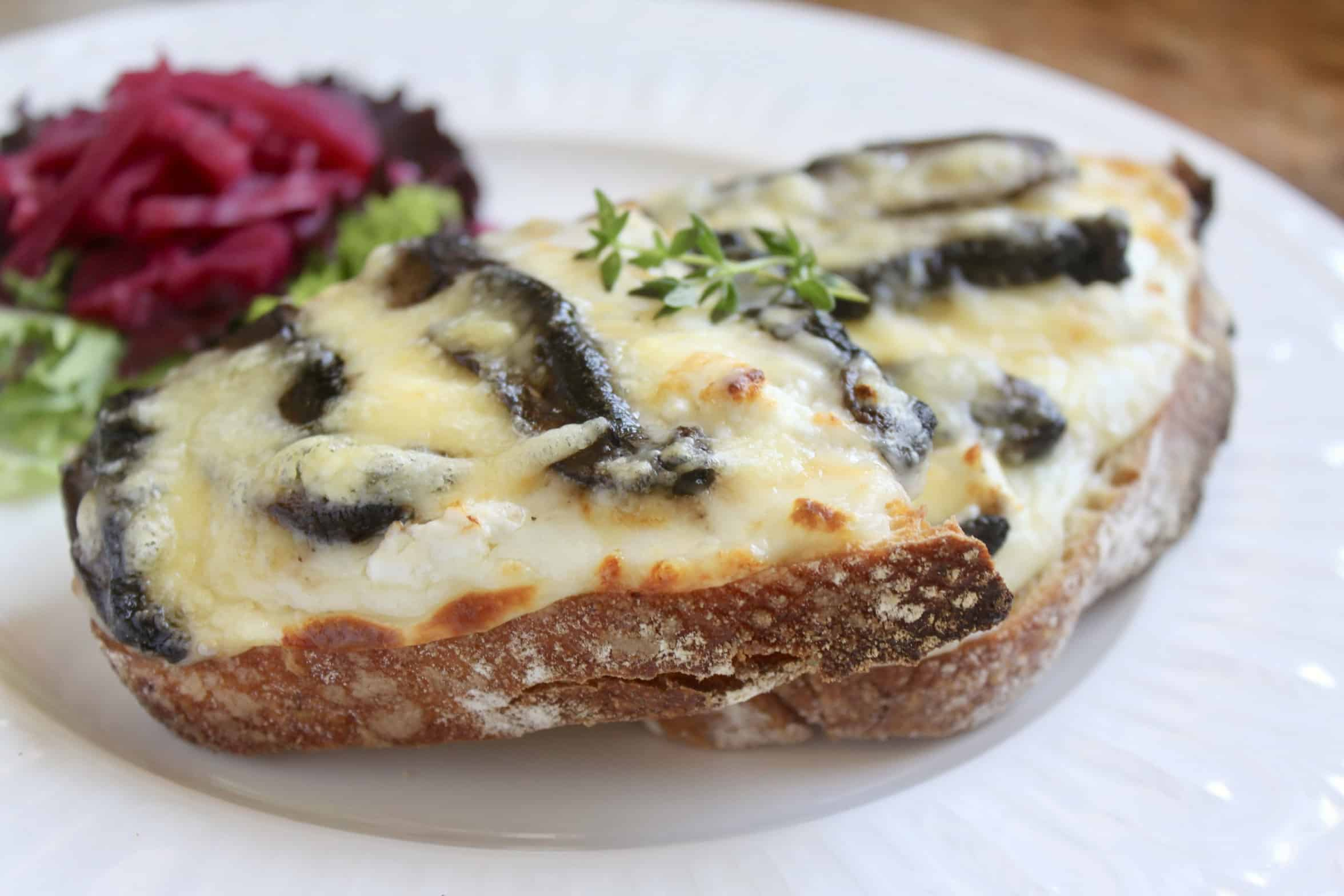 goat cheese and mushroom croque monsieur recipe