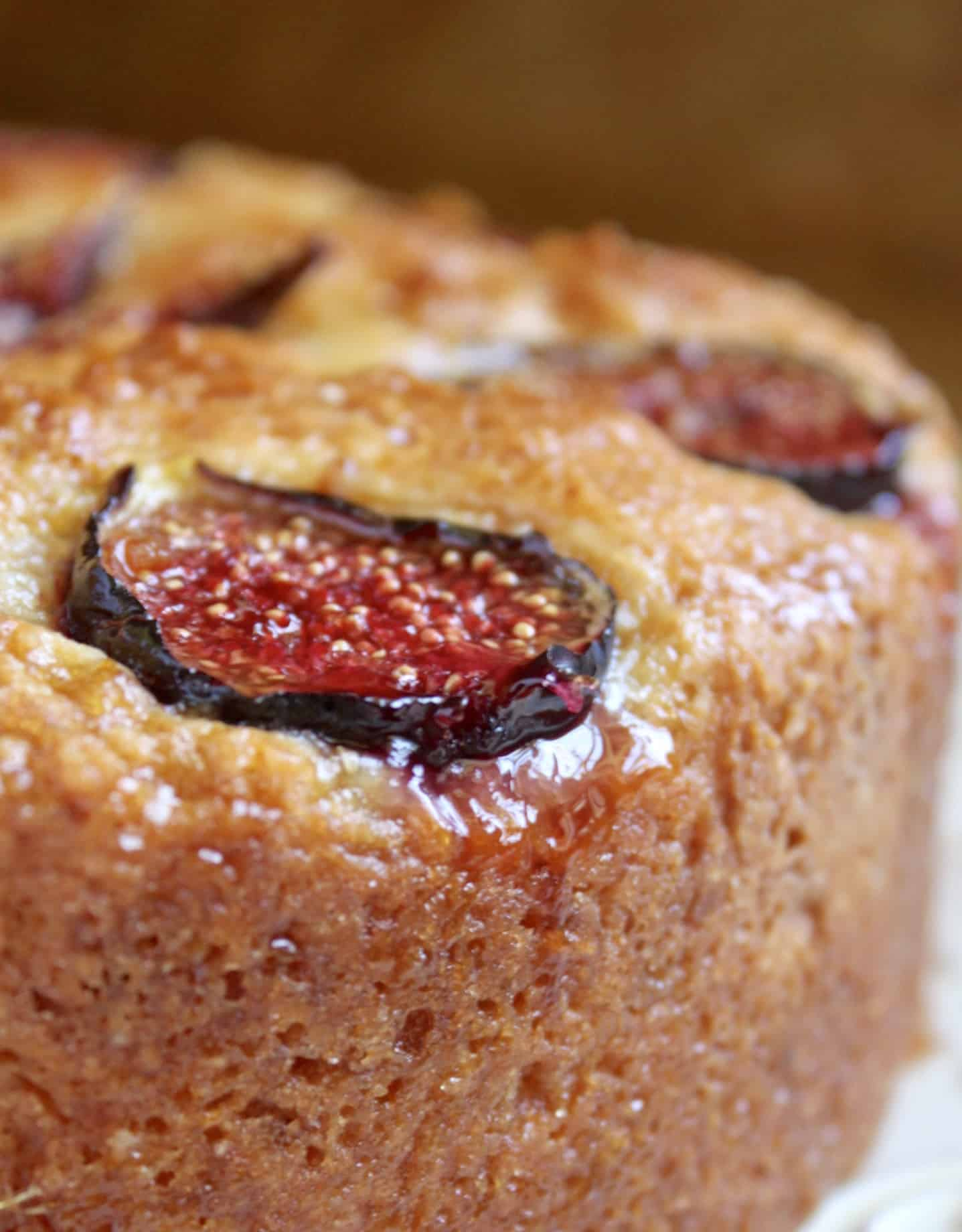 close up of fig cake
