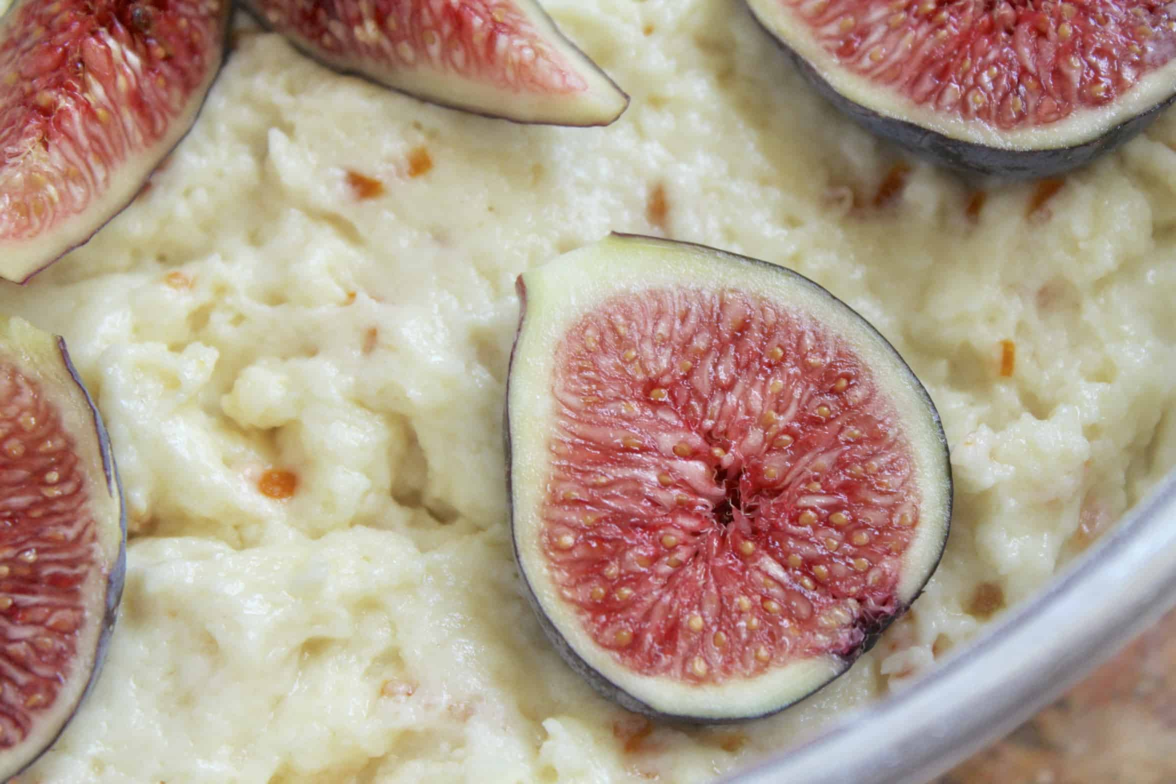fresh fig on cake