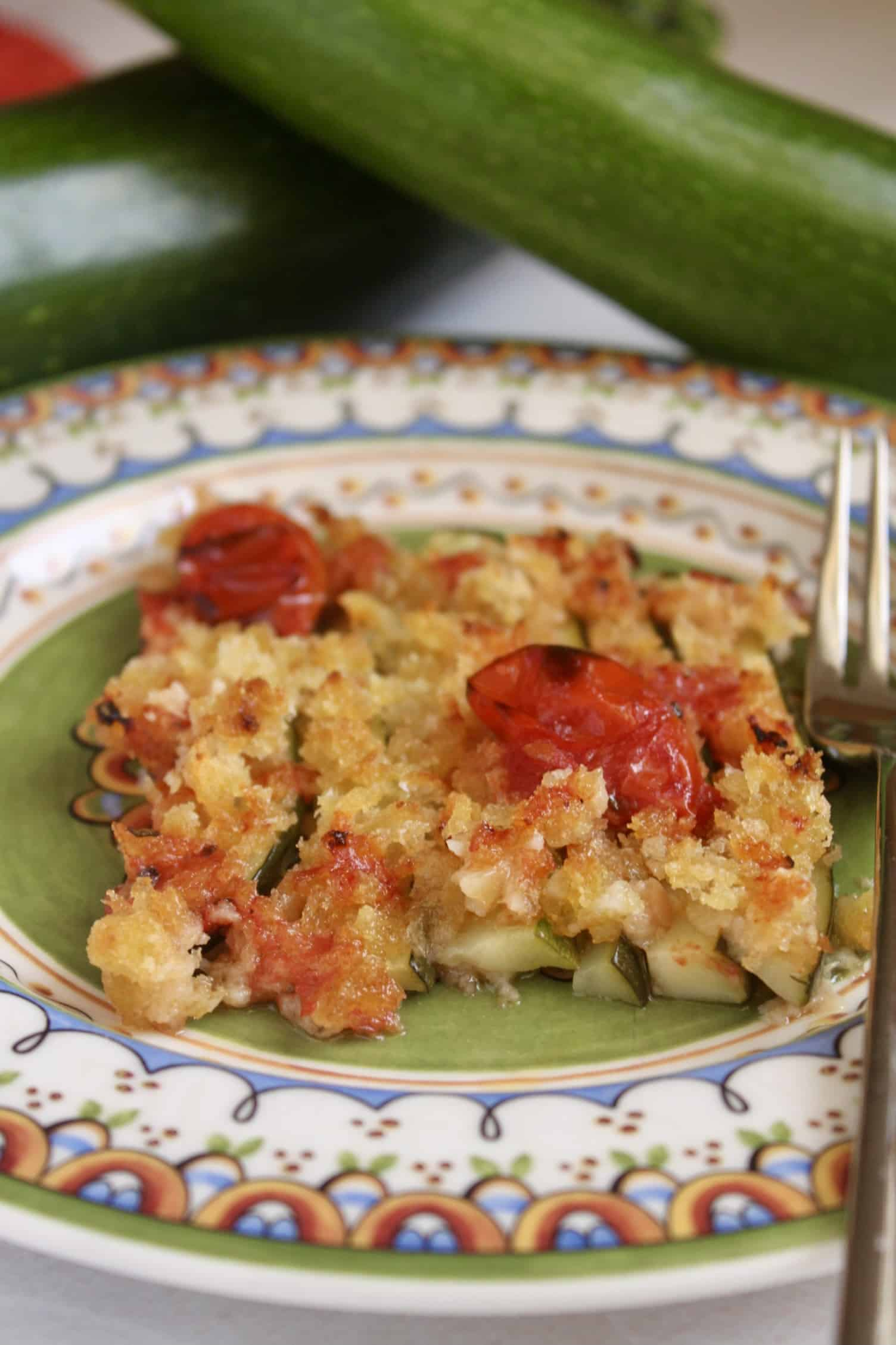 baked zucchini on a plate