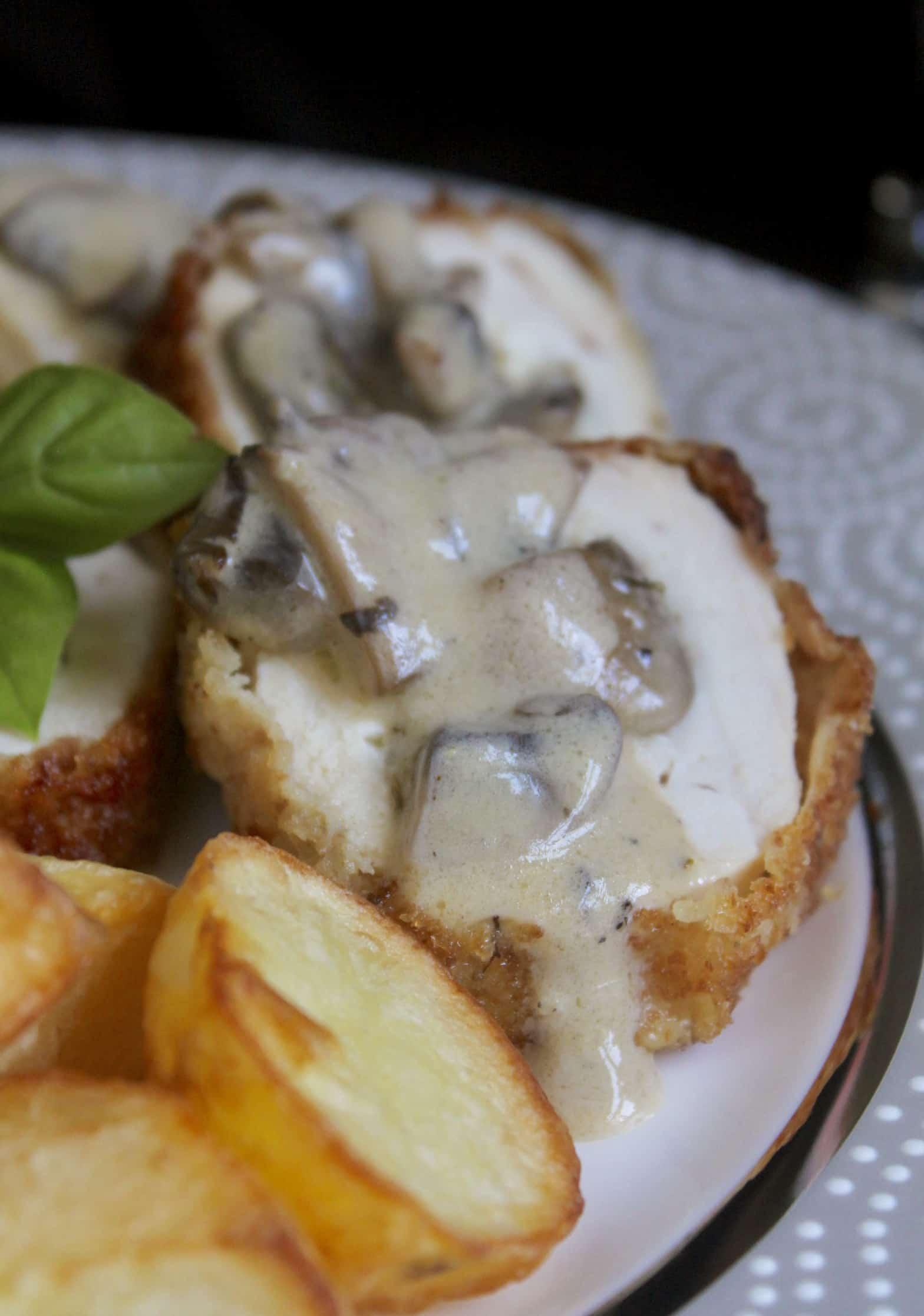 mushroom sauce on chicken