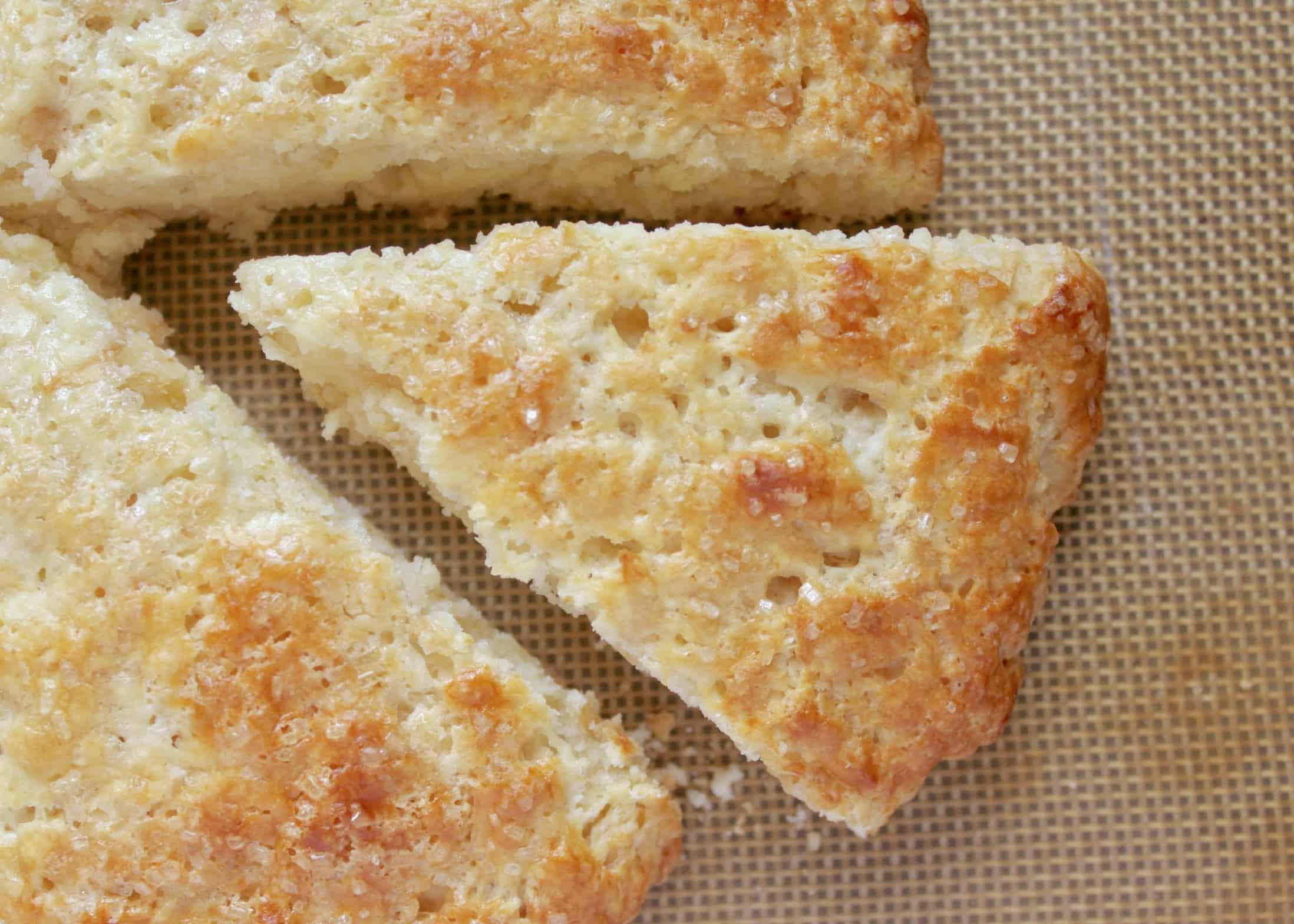 apple scones from overhead