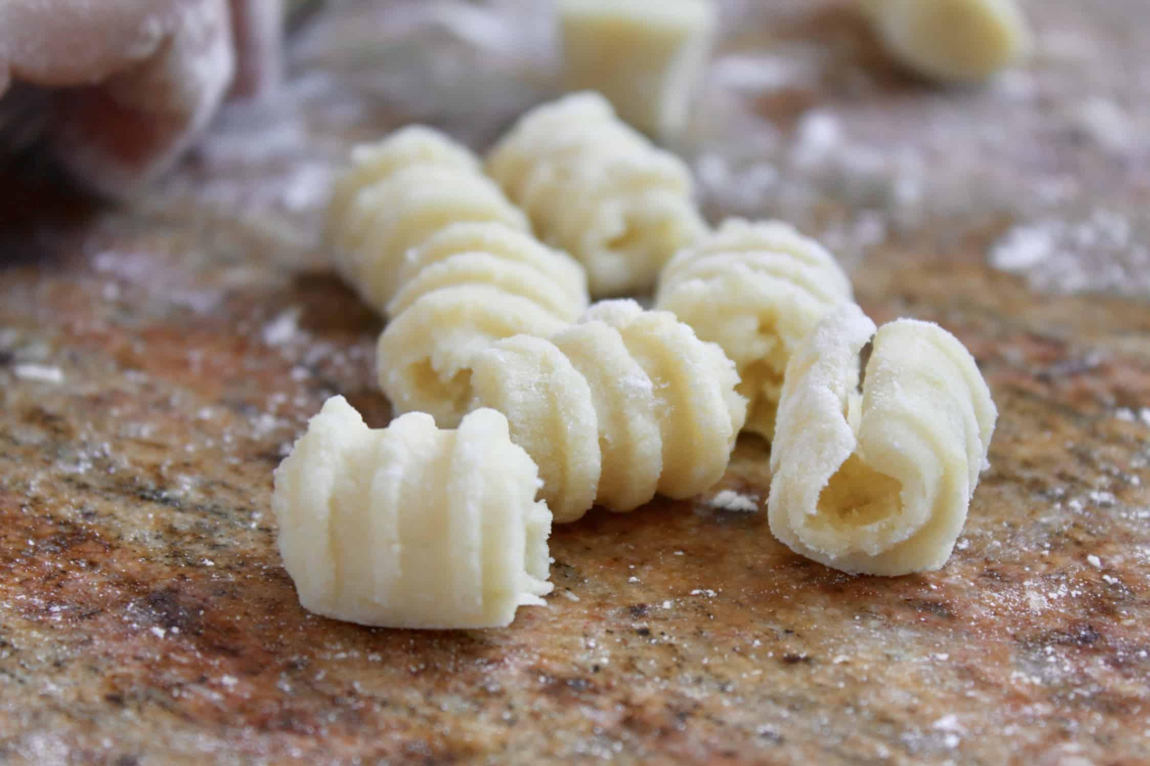 potato gnocchi ready to cook