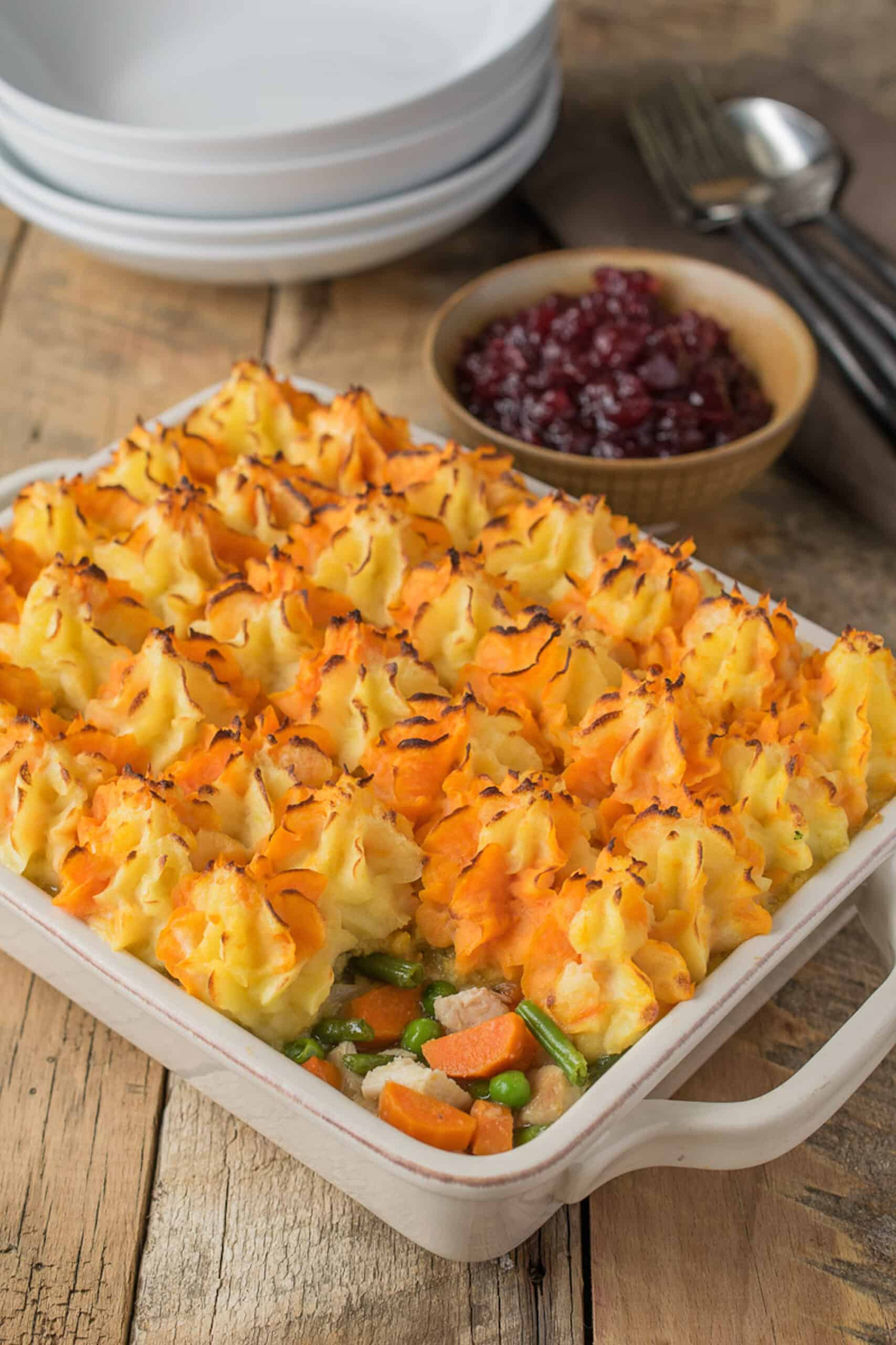 thanksgiving leftovers turkey shepherd's pie