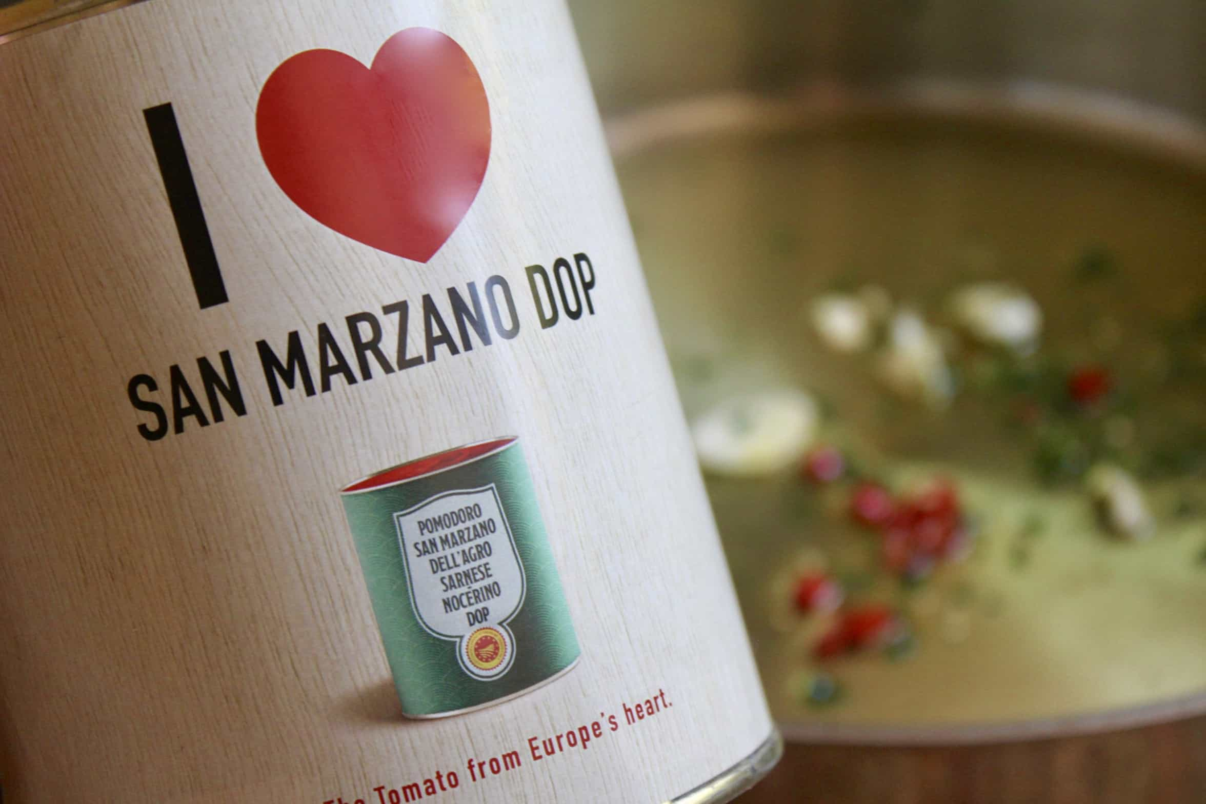 can of tomatoes with I love san marzano dop