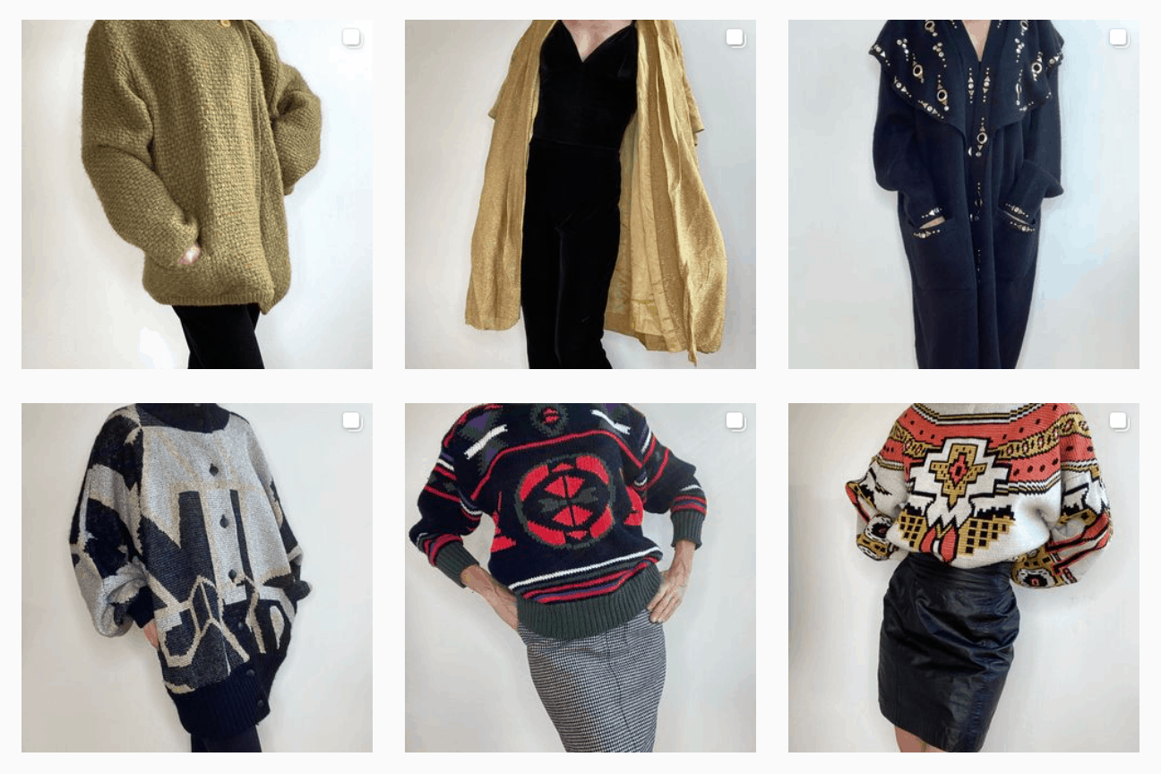 what is lovely vintage collage of 6 fashions