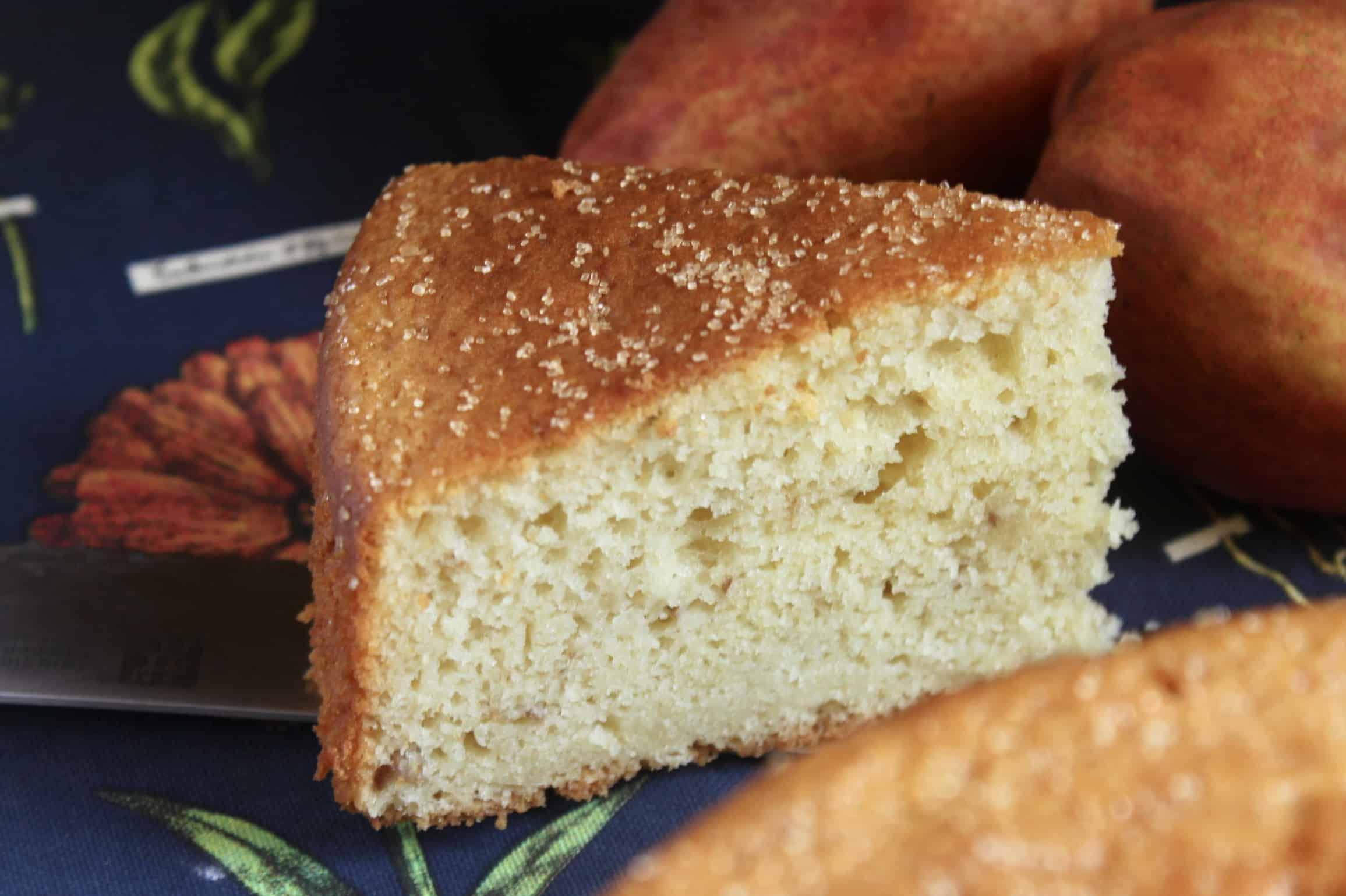 pear cake slice