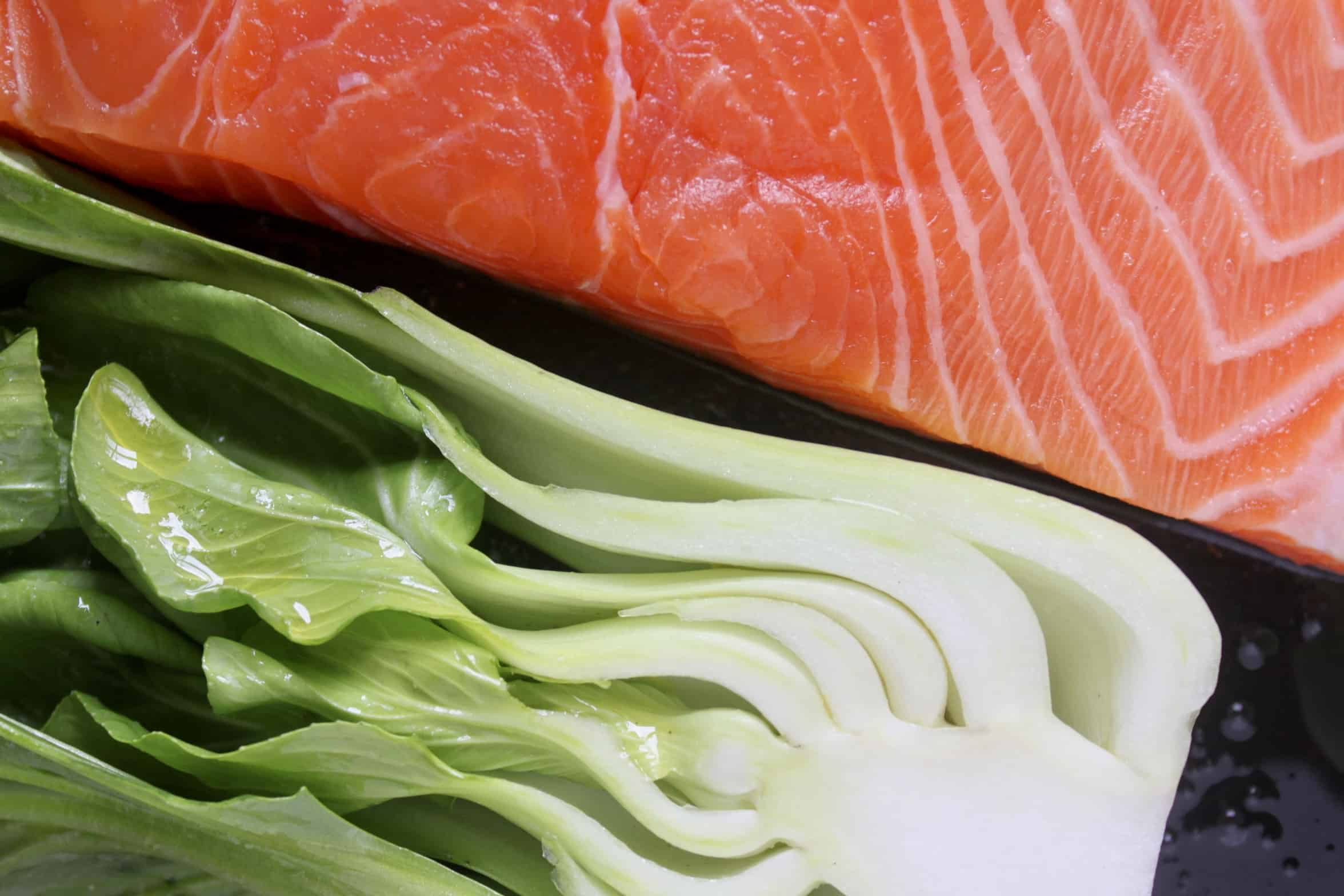 bok choy and salmon