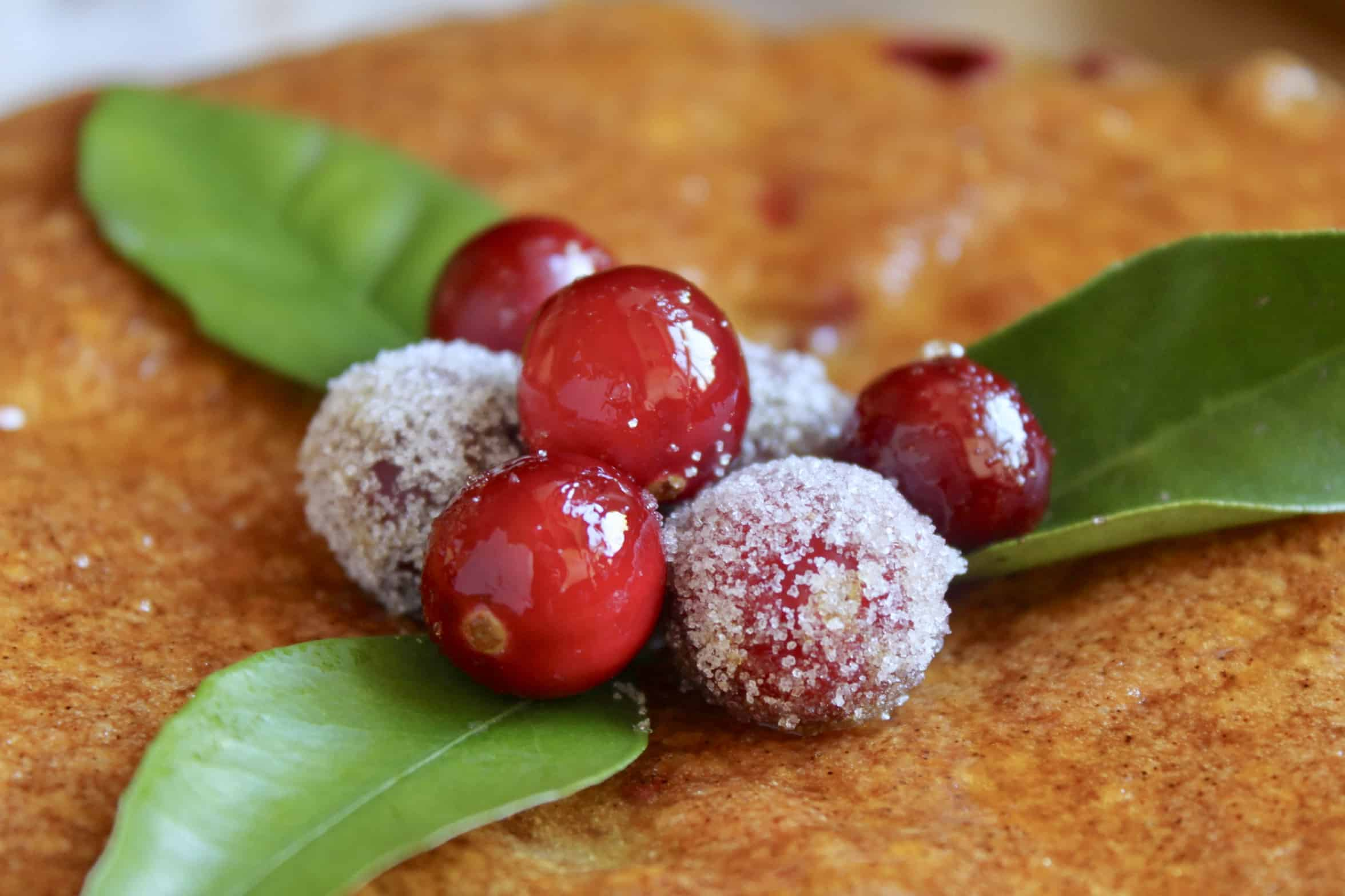 cranberries on a cake