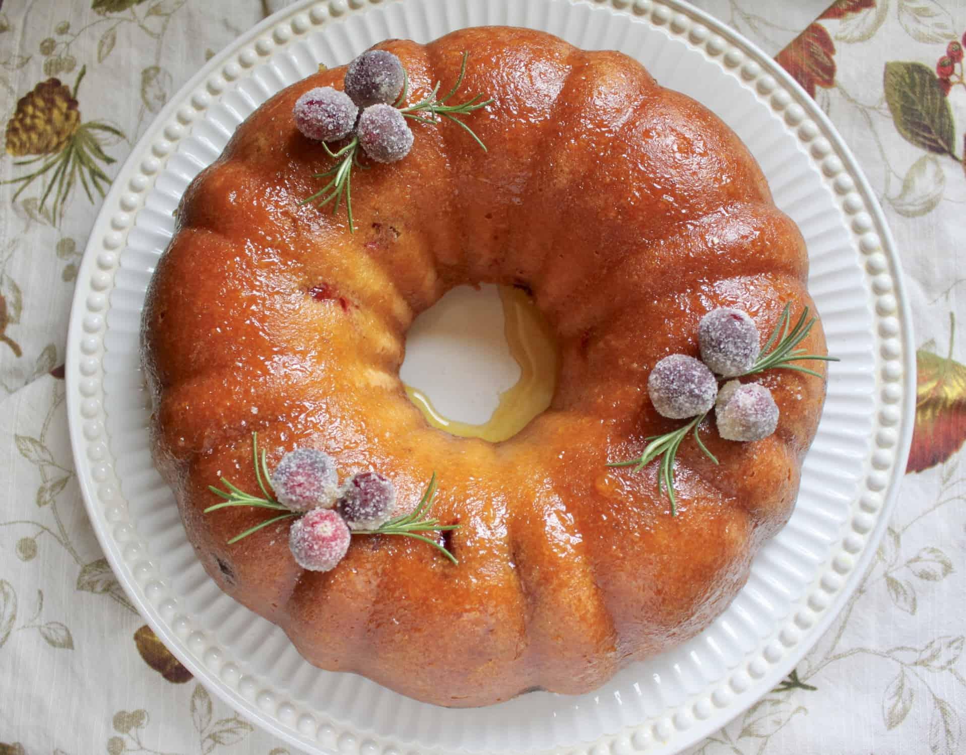 overheard orange cranberry bundt cake