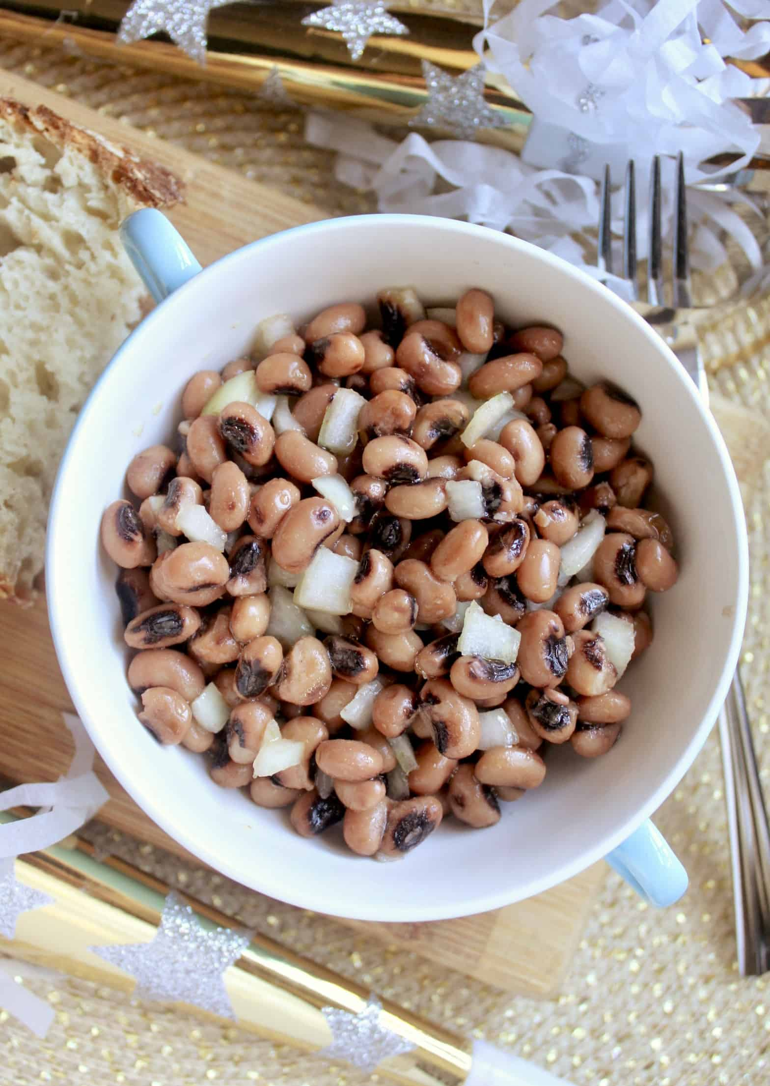 overhead black eyed peas recipe