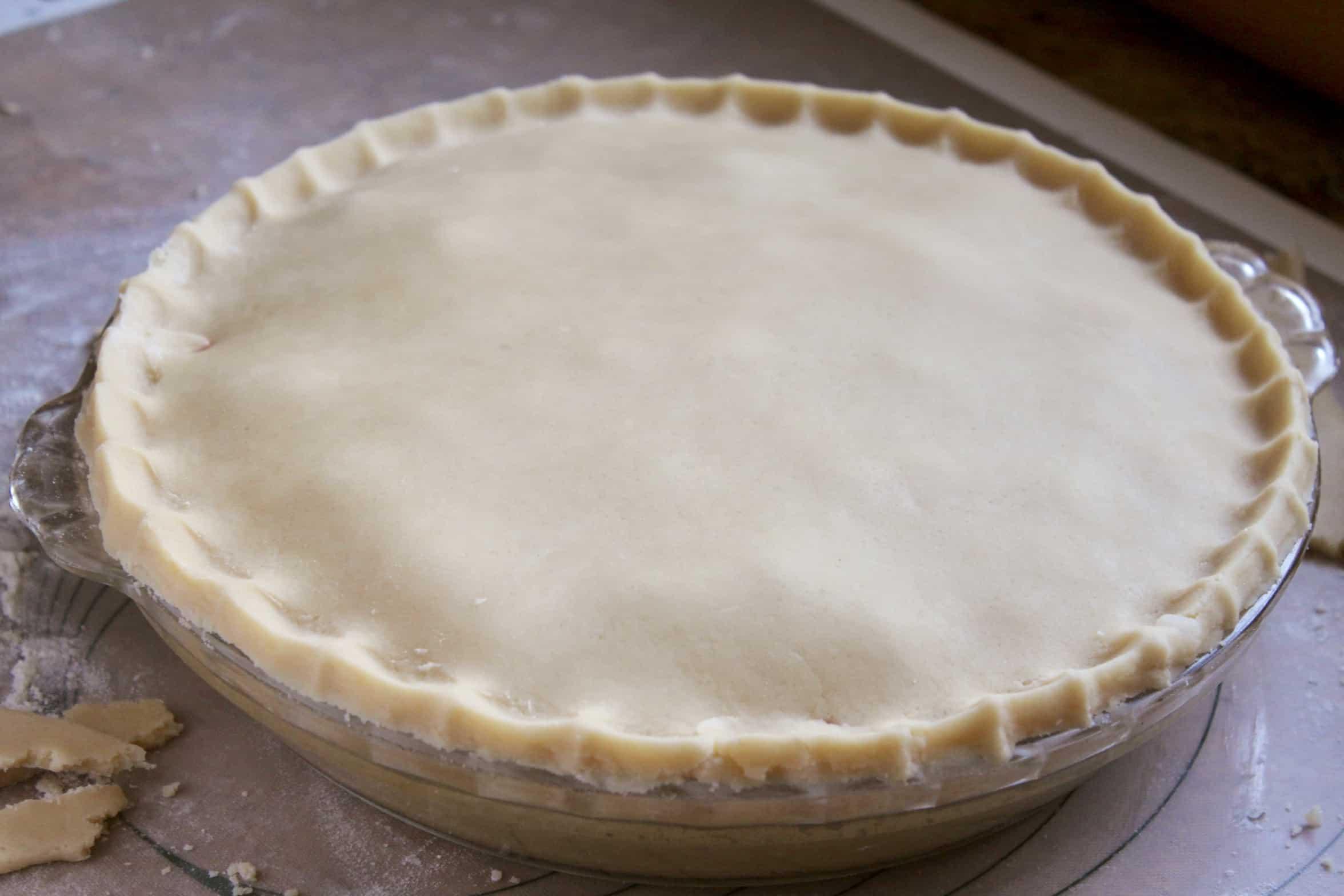 raw rhubarb pie