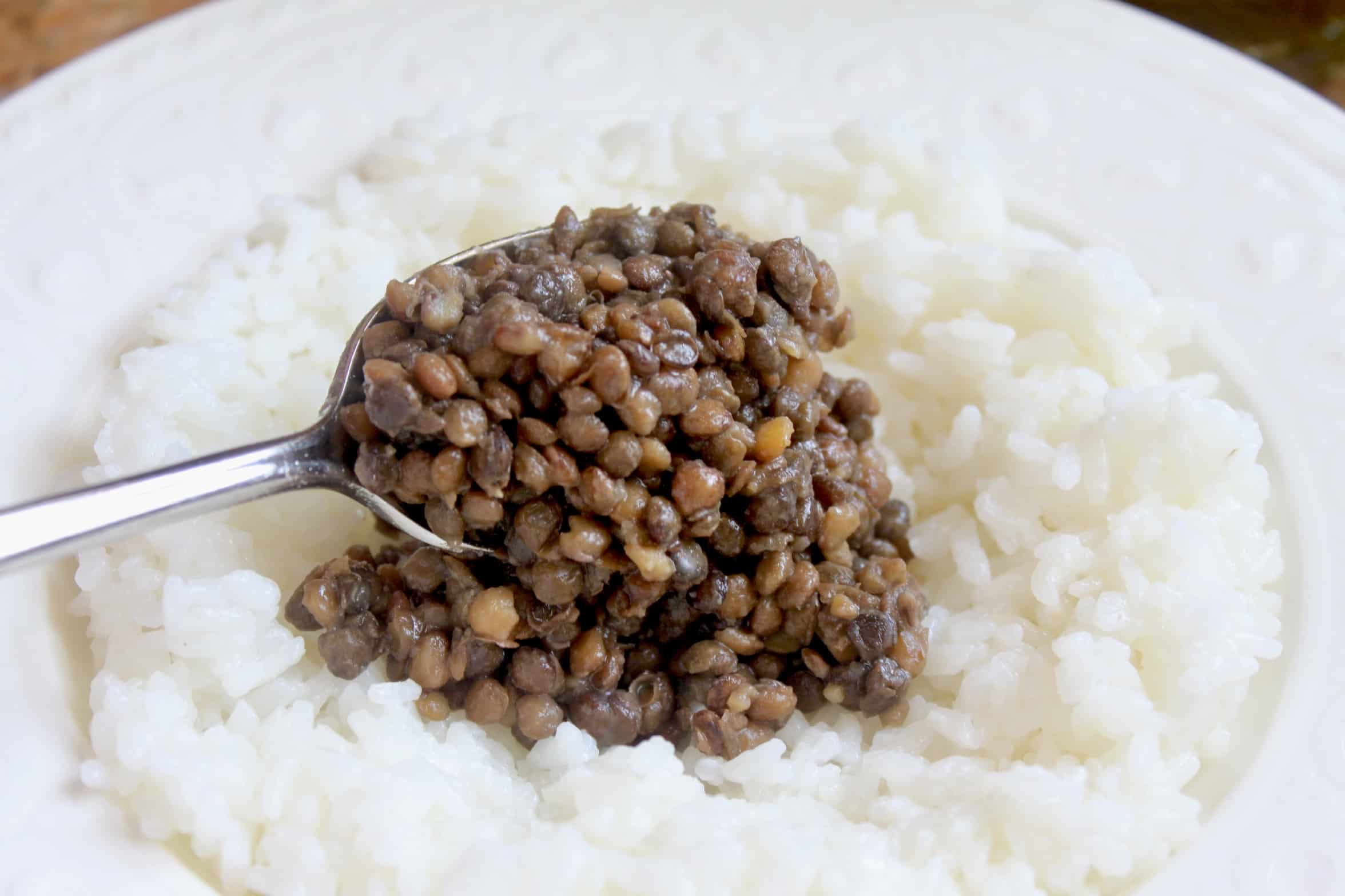 adding lentils to rice
