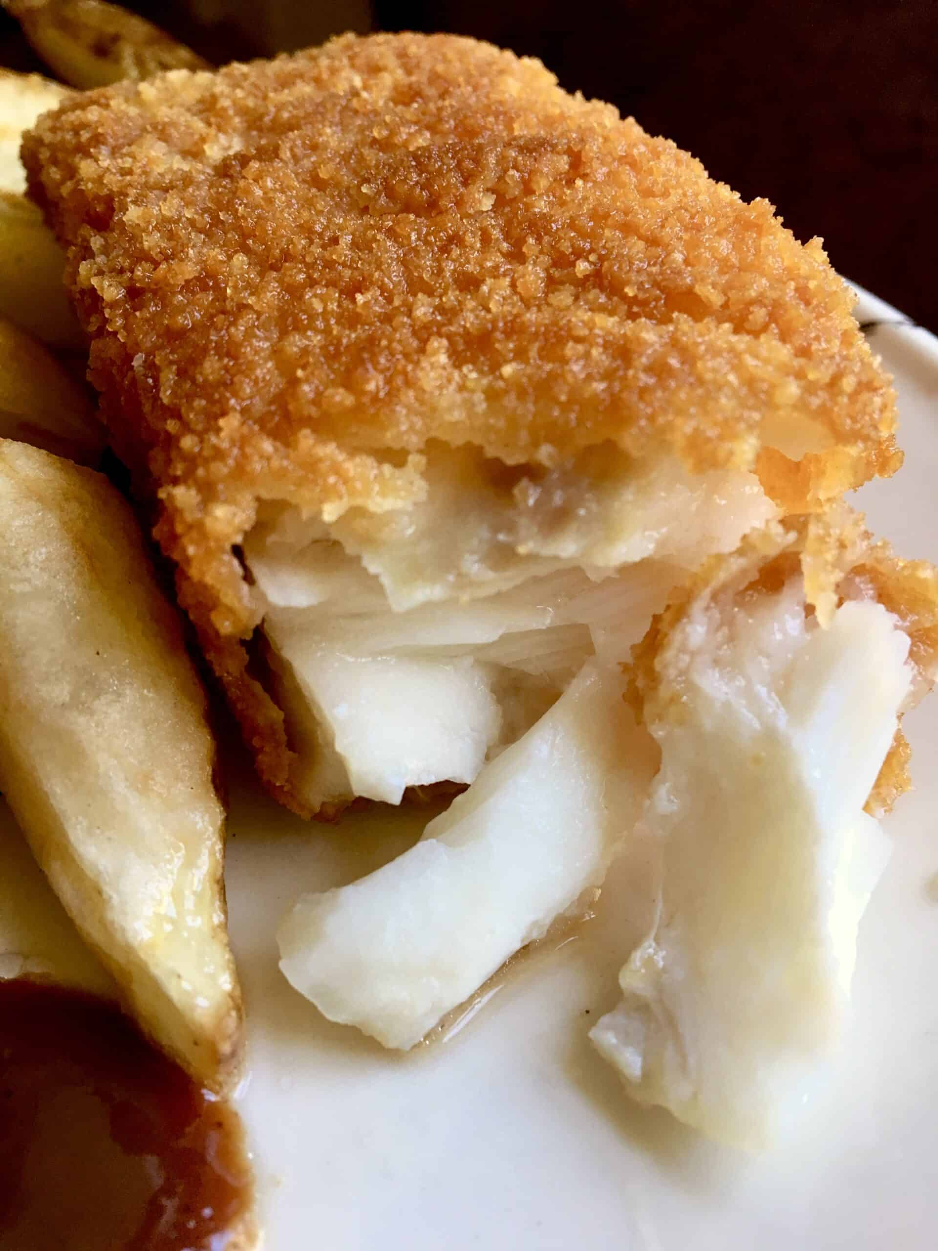 fish and chips with HP Sauce