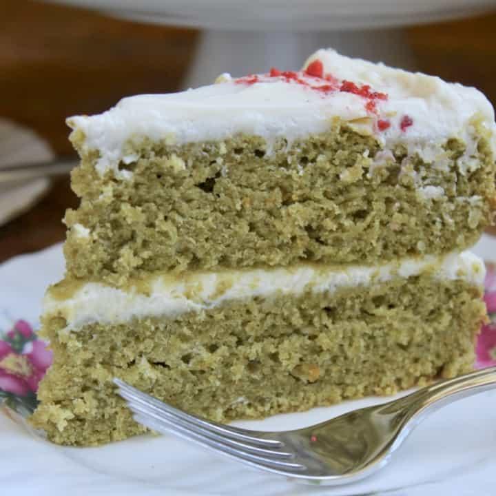 slice of moss cake