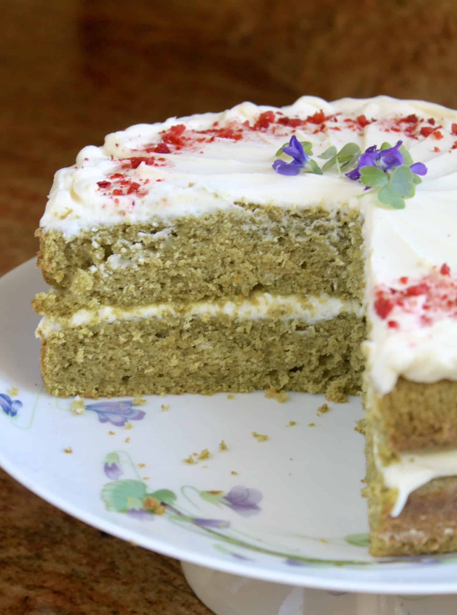 inside of moss cake