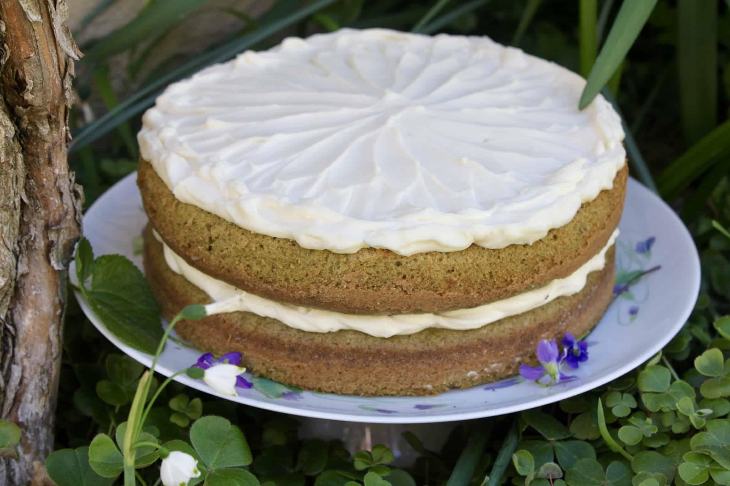 plain spinach cake