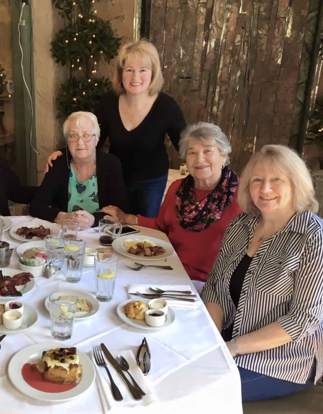 Frances and me with my mum and a friend at Julienne