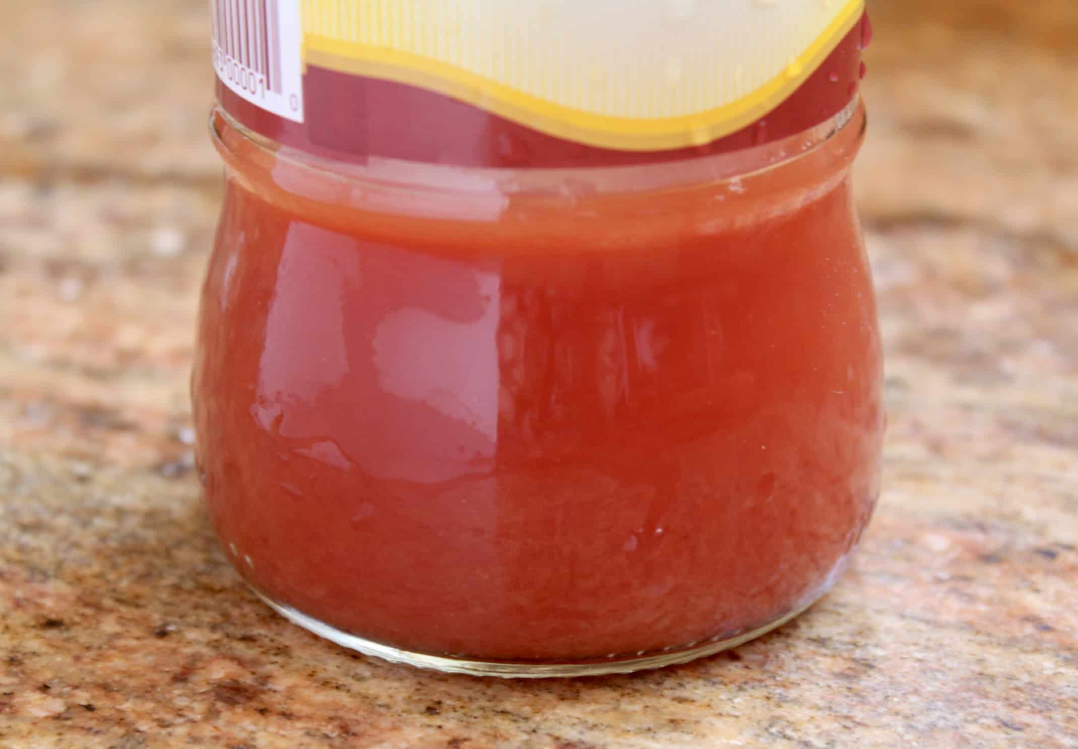 water in a Mutti jar